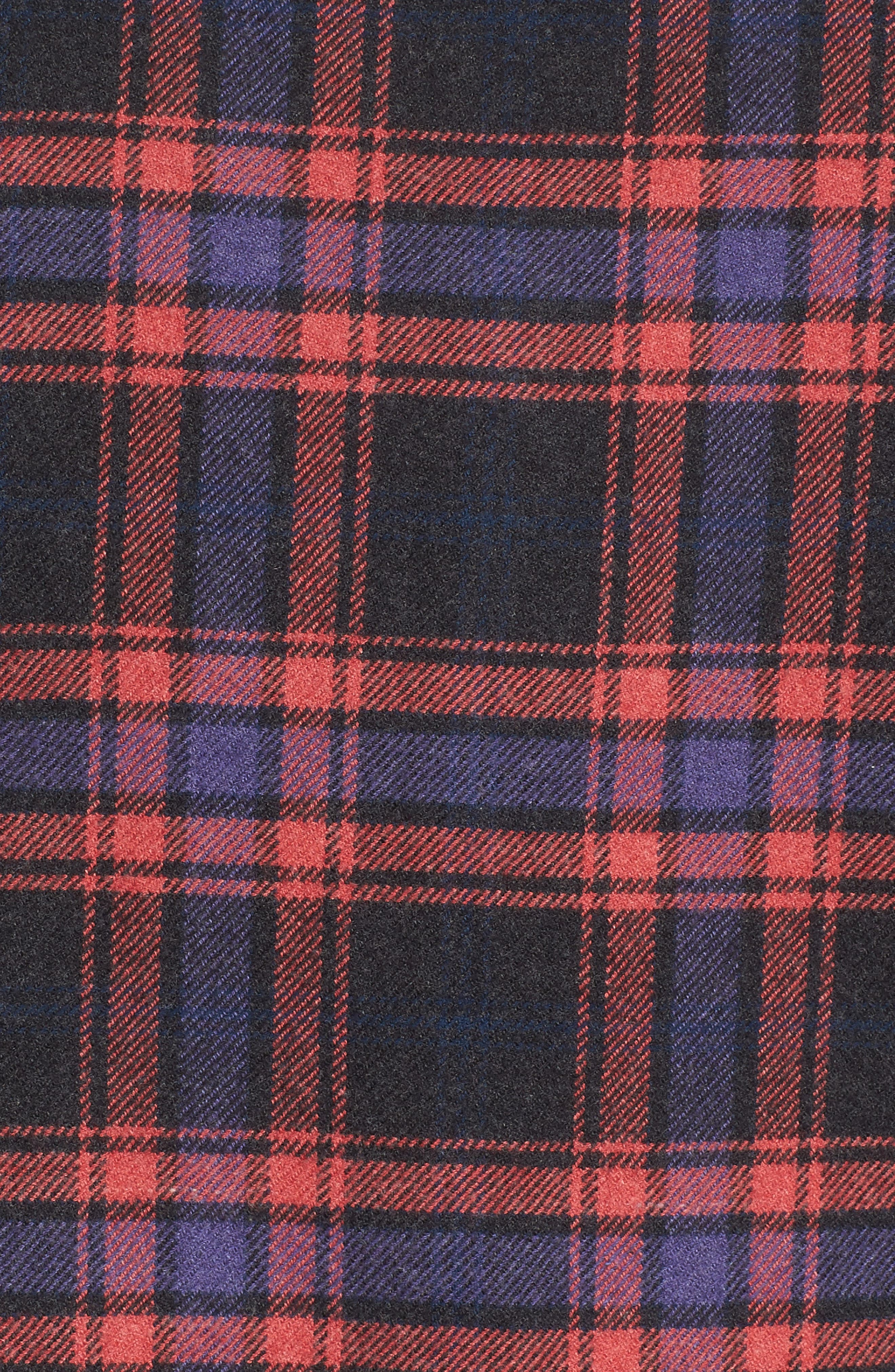 Chaucer Heritage Flannel Shirt,                             Alternate thumbnail 5, color,                             Charcoal Red