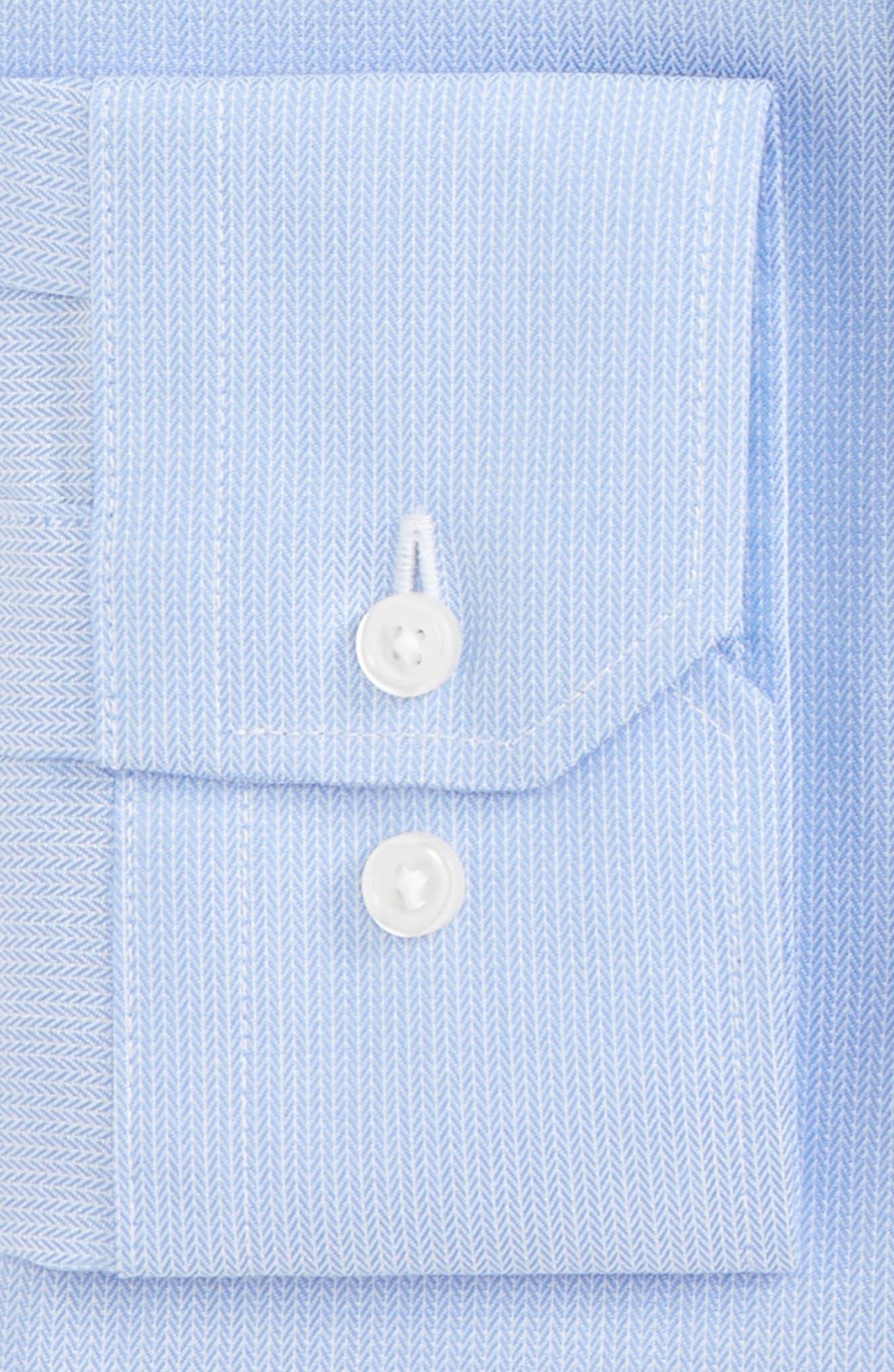 Trim Fit No-Iron Stretch Cotton Dress Shirt,                             Alternate thumbnail 2, color,                             Blue Grapemist