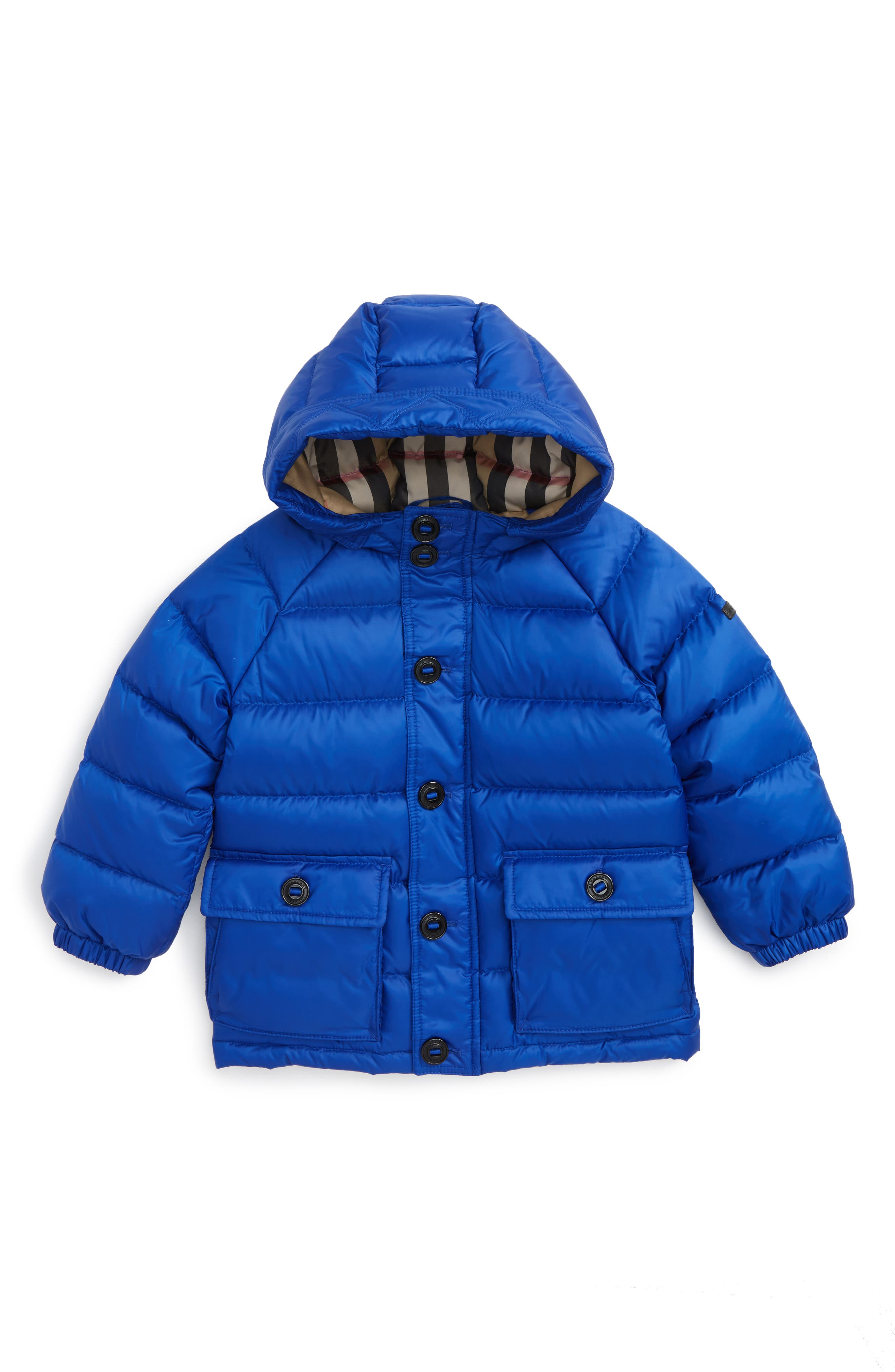 Alternate Image 1 Selected - Burberry Mini Lachlan Hooded Down Jacket (Toddler Boys)