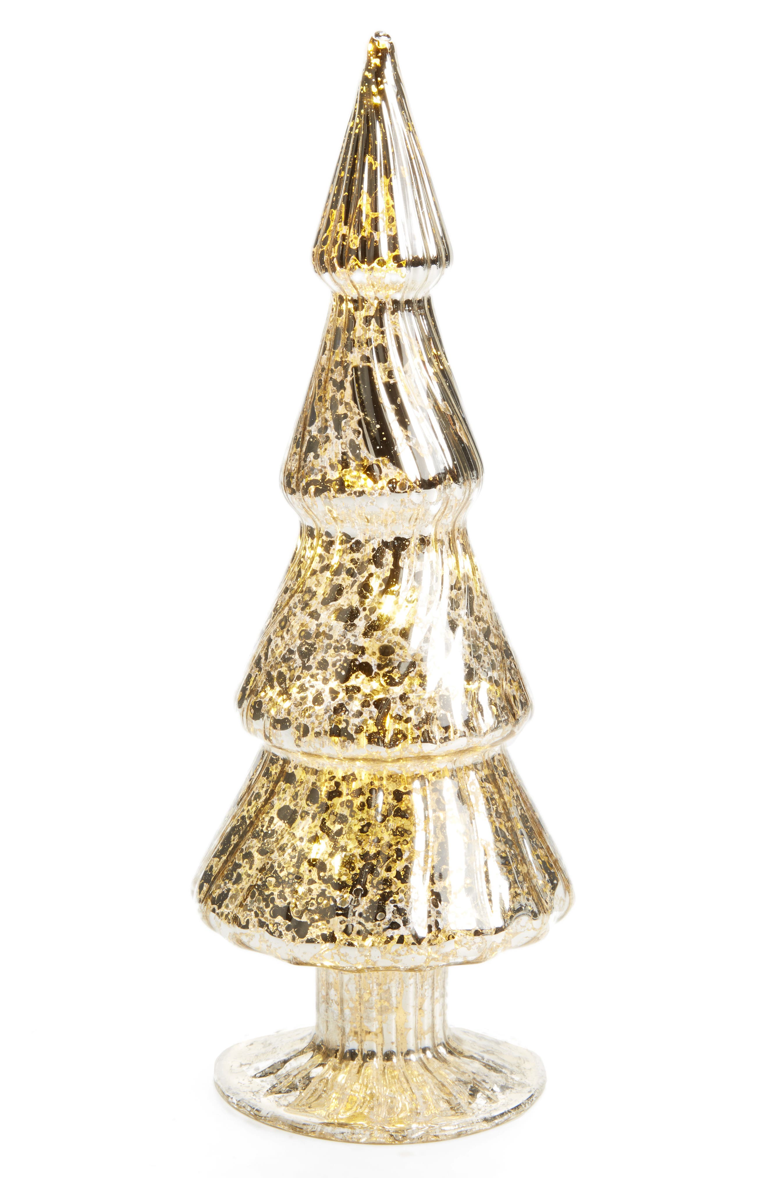 LED Glass Tree,                         Main,                         color, Silver