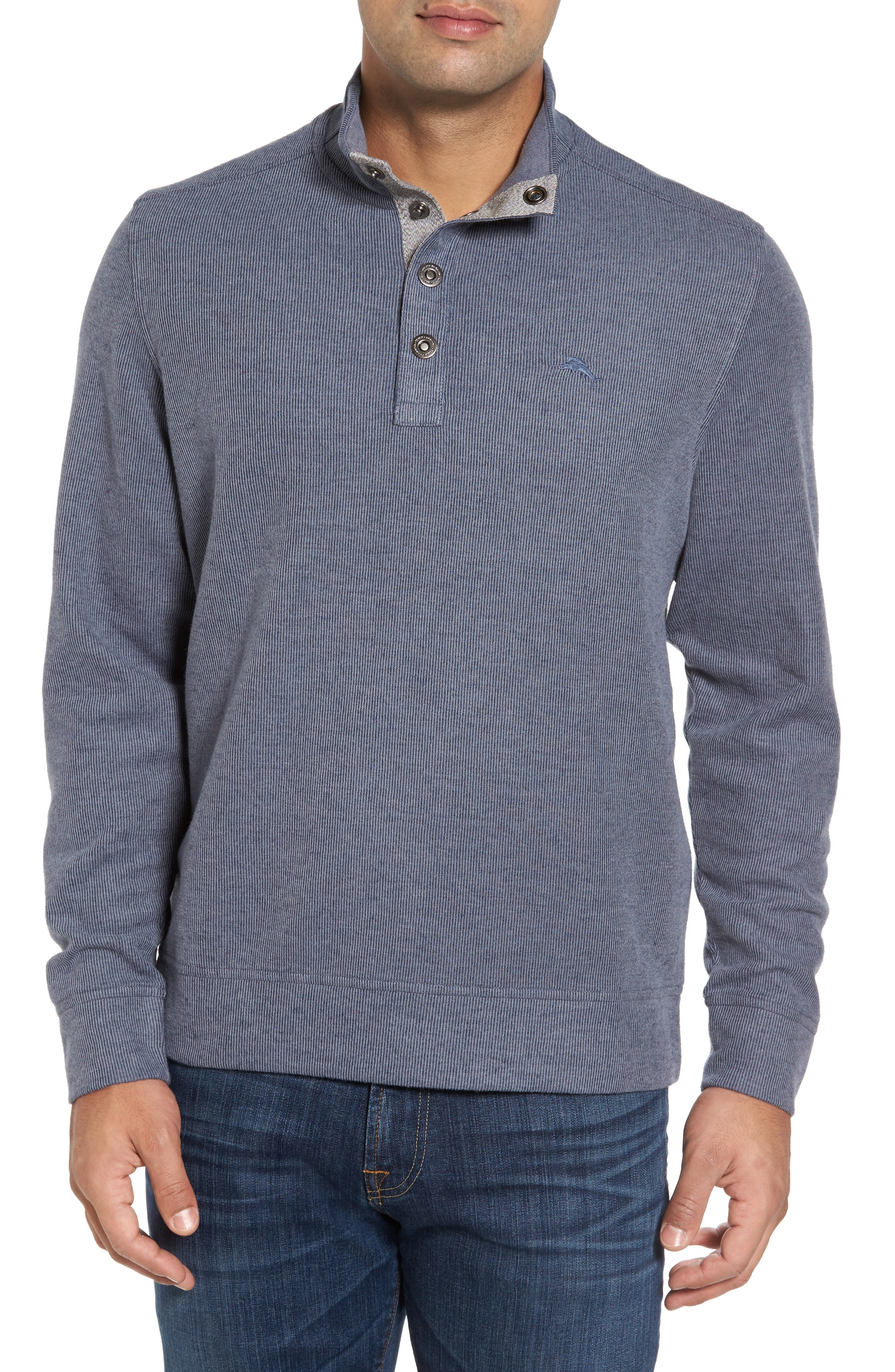 Alternate Image 1 Selected - Tommy Bahama Cold Springs Snap Mock Neck Sweater