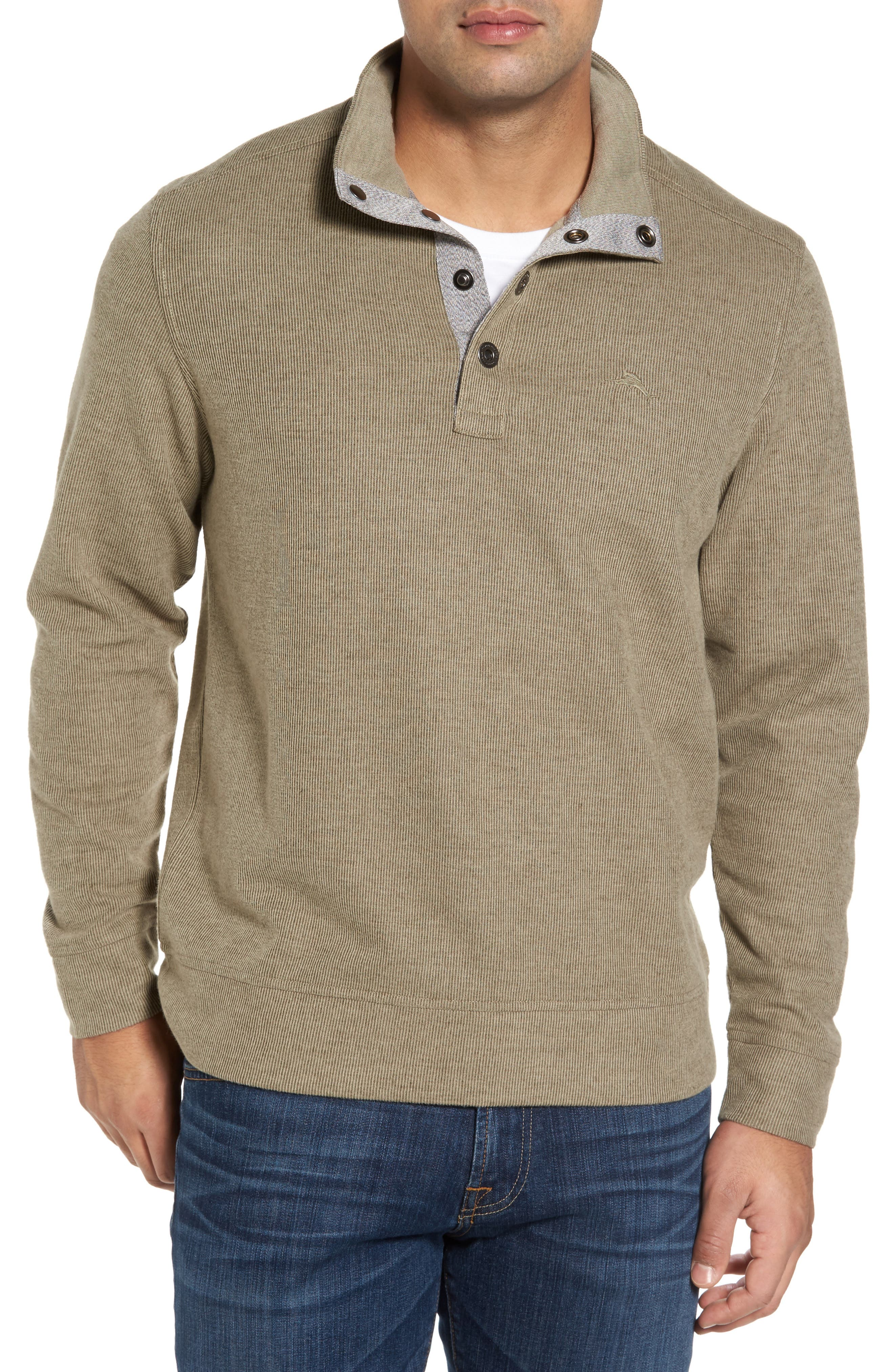 Cold Springs Snap Mock Neck Sweater,                             Main thumbnail 1, color,                             Mocha