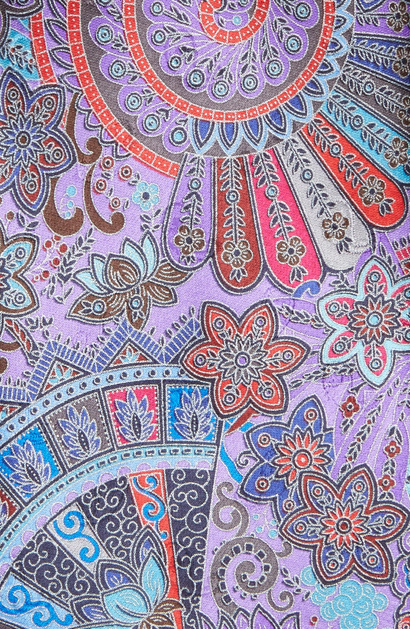 Quindici Paisley Silk Tie,                             Alternate thumbnail 2, color,                             Purple