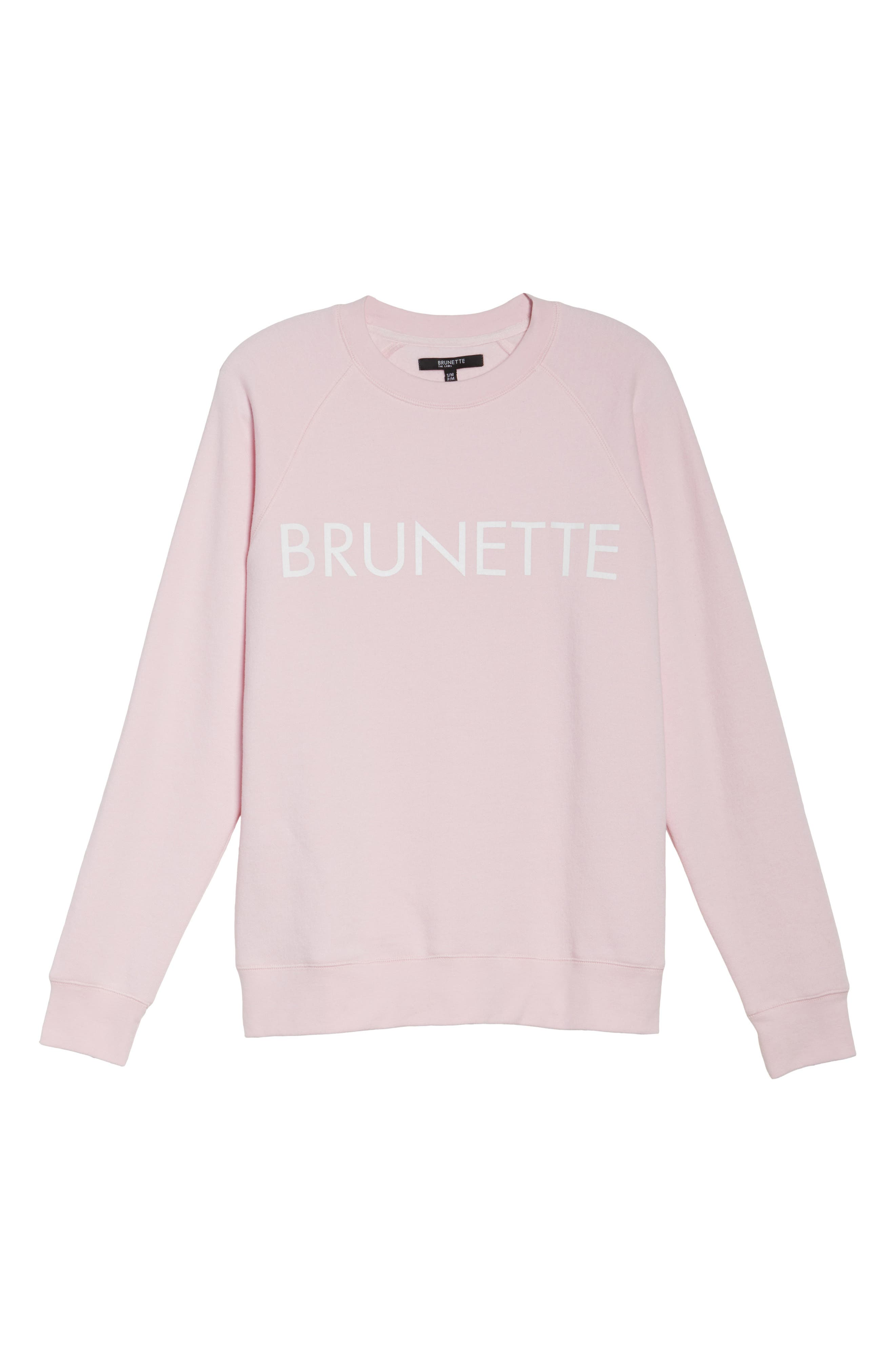 Brunette Crewneck Sweatshirt,                             Alternate thumbnail 4, color,                             Pink