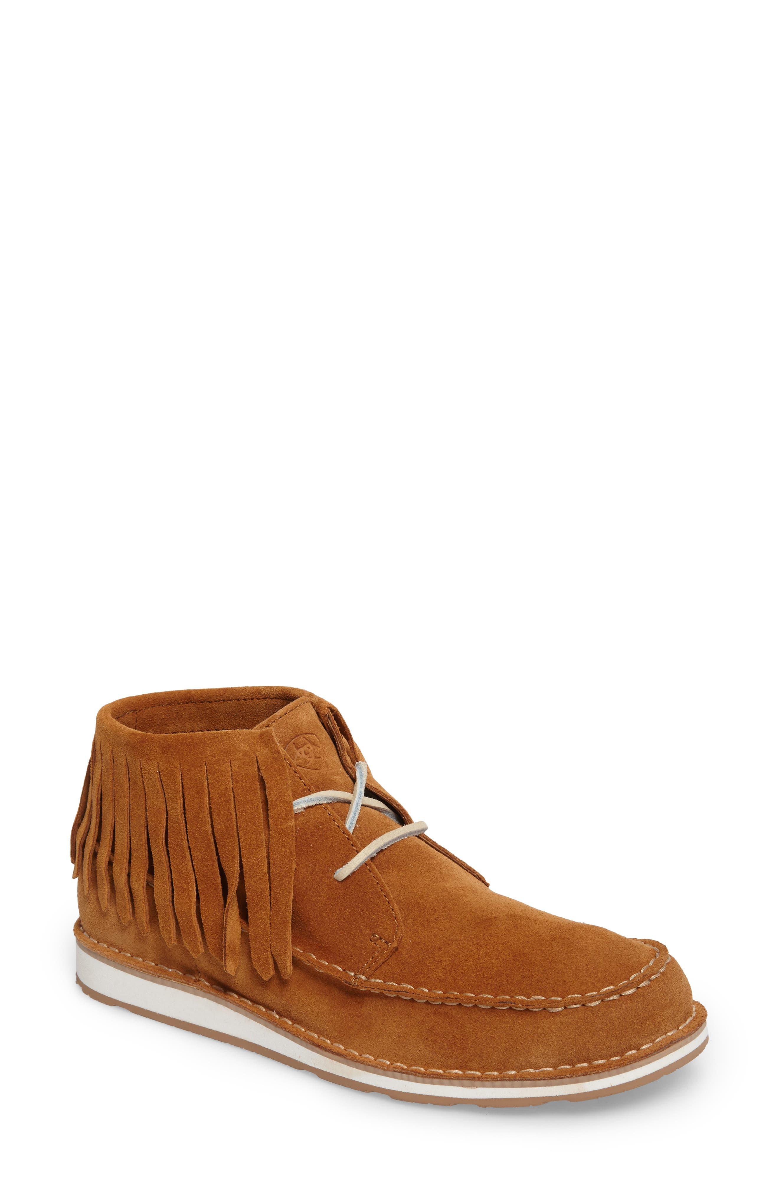 Alternate Image 1 Selected - Ariat Cruiser Fringe Chukka Boot (Women)