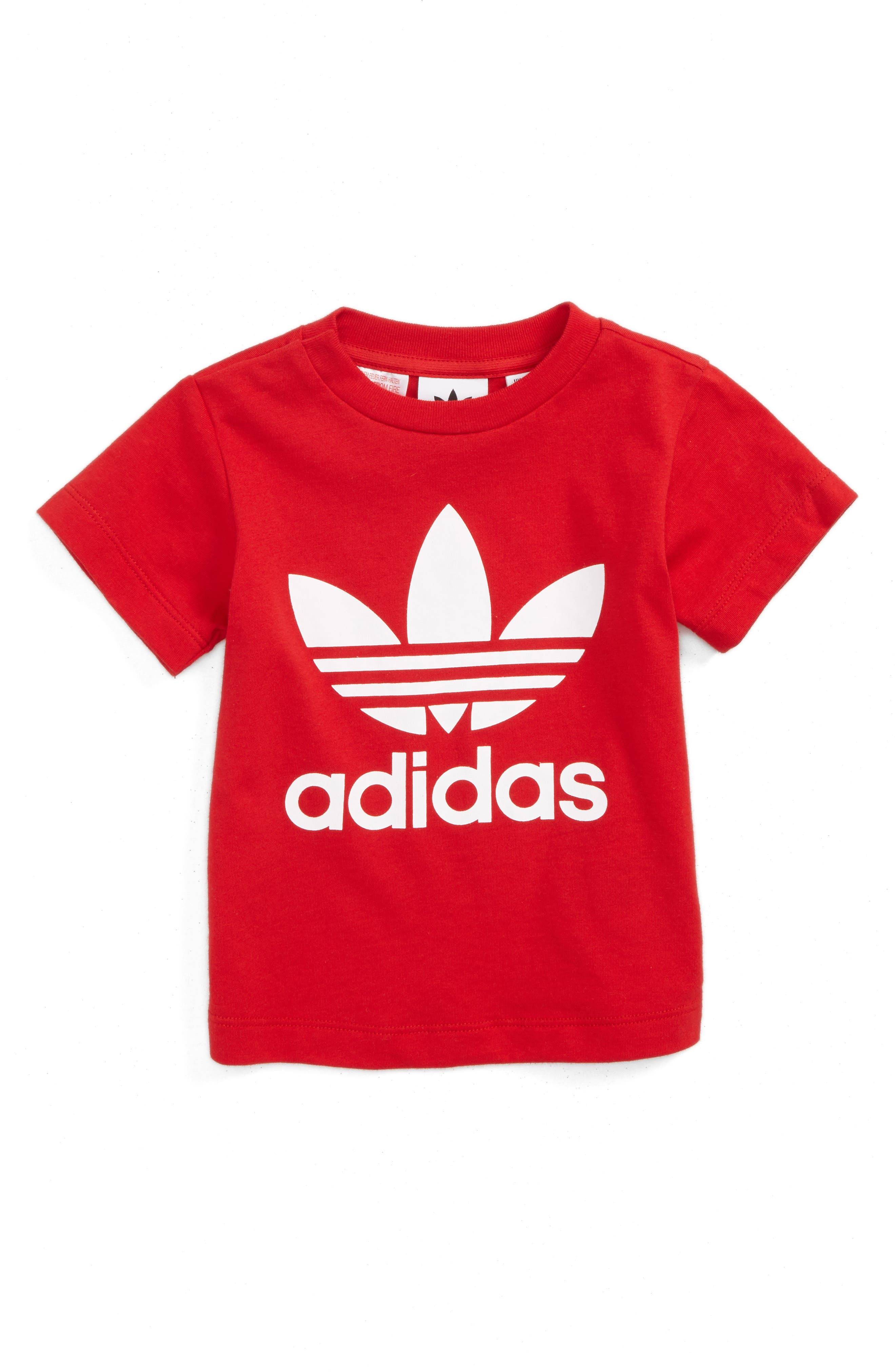 Main Image - adidas Originals Trefoil Logo Tee (Baby)