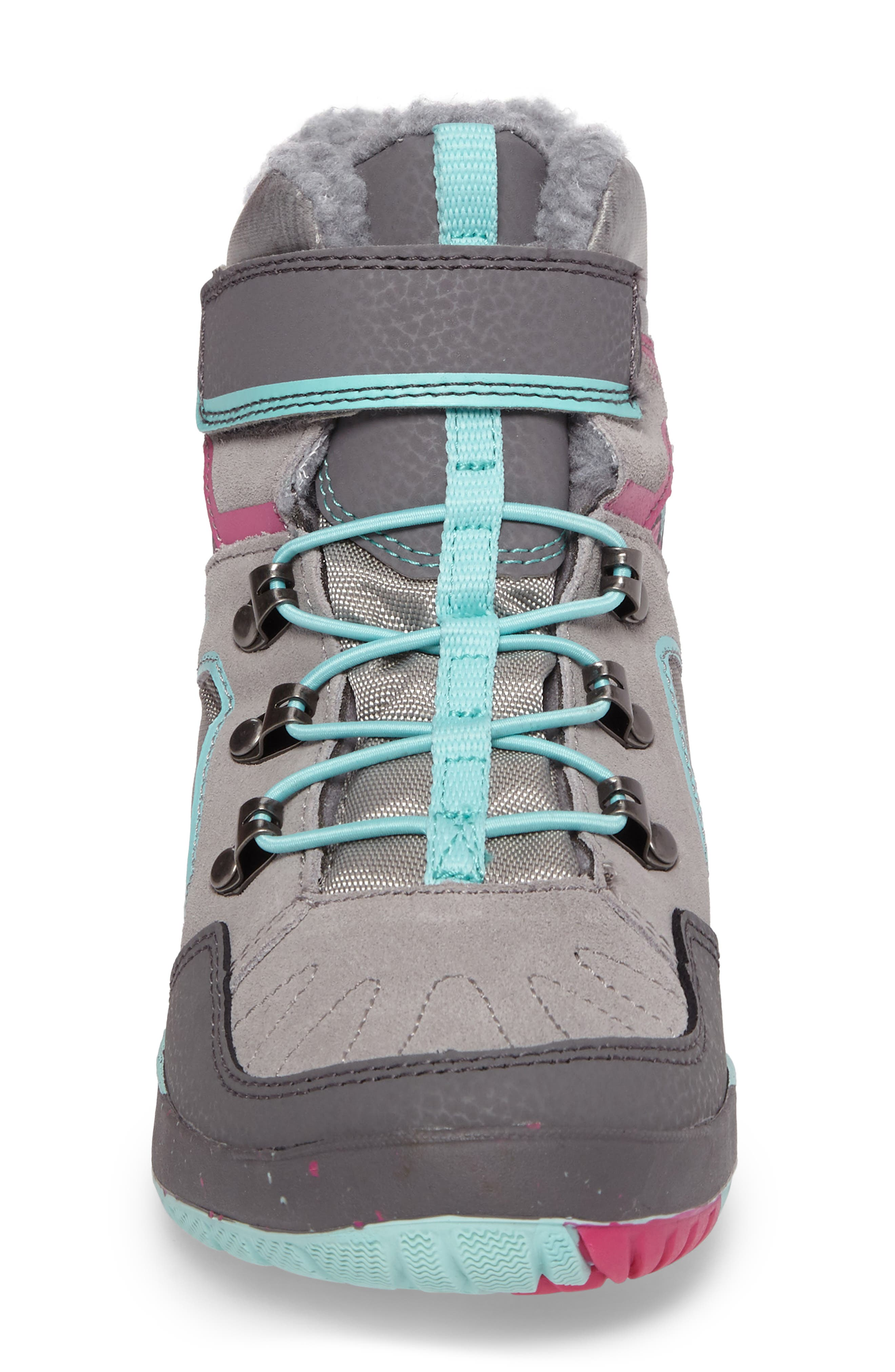 Moab FST Polar Mid Waterproof Insulated Sneaker Boot,                             Alternate thumbnail 4, color,                             Grey/ Multi