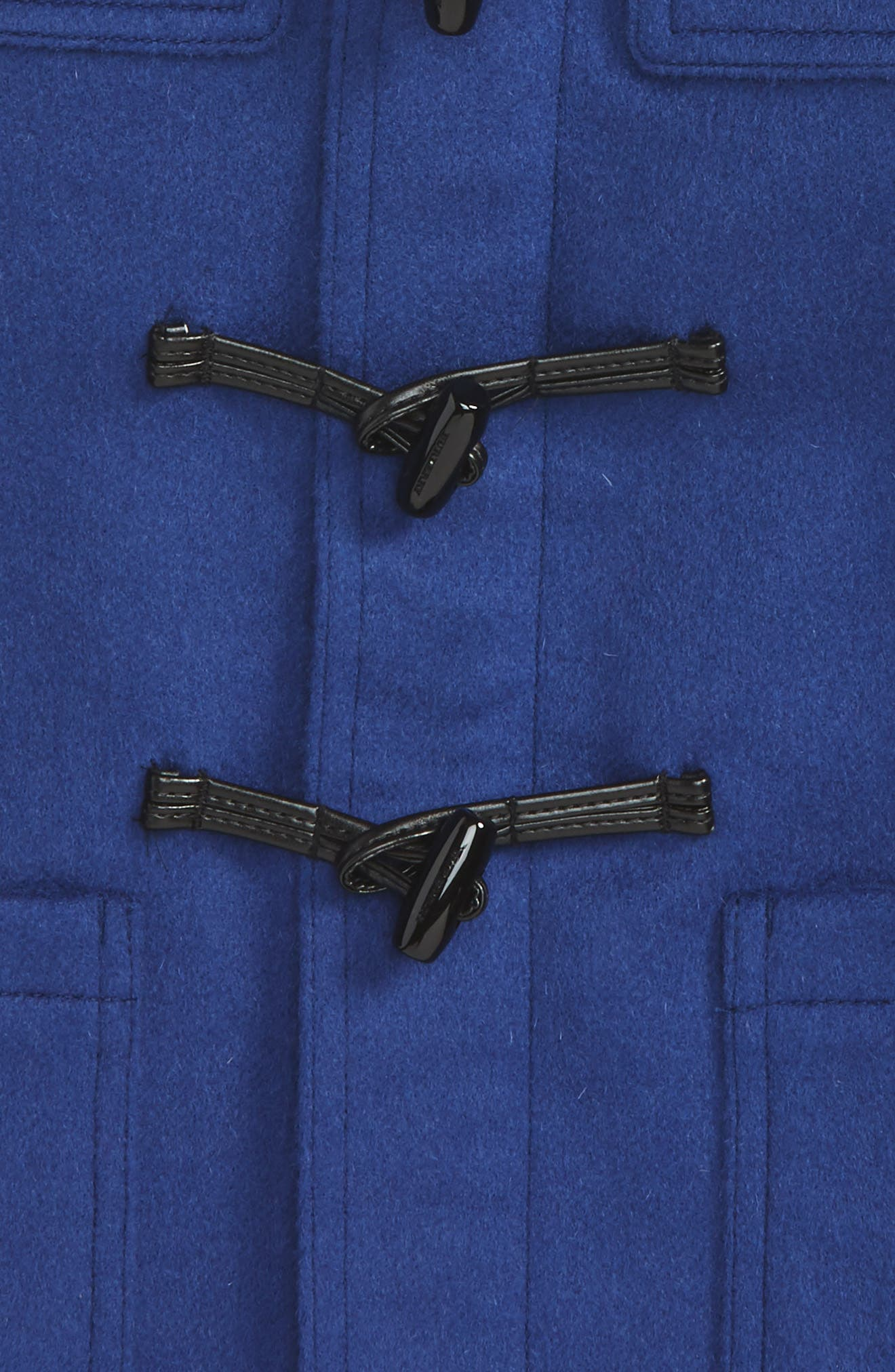Alternate Image 2  - Burberry Brogan Hooded Wool Toggle Coat (Baby Boys)