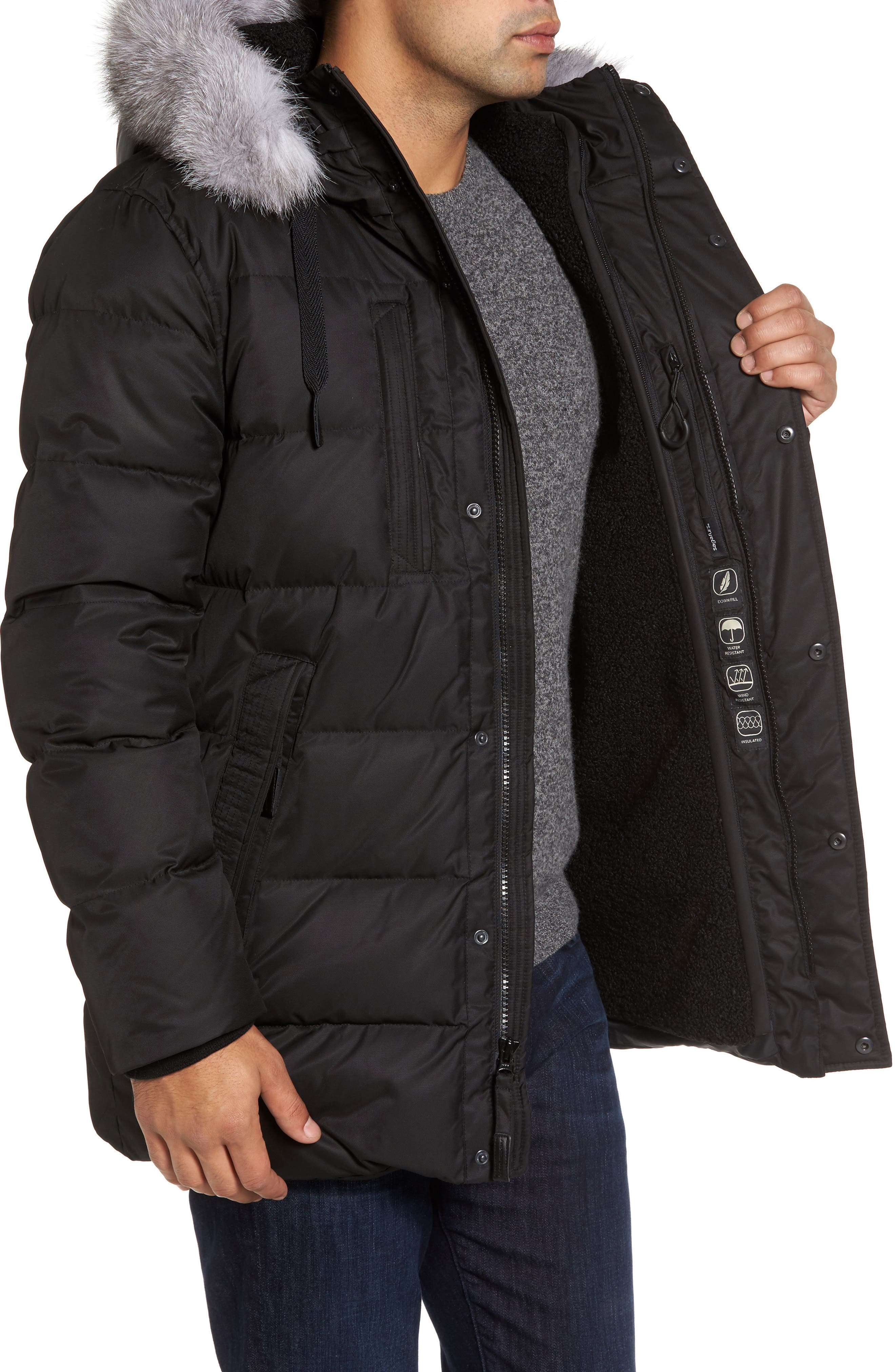 Alternate Image 3  - Andrew Marc Quilted Down Jacket with Genuine Fox Fur Trim