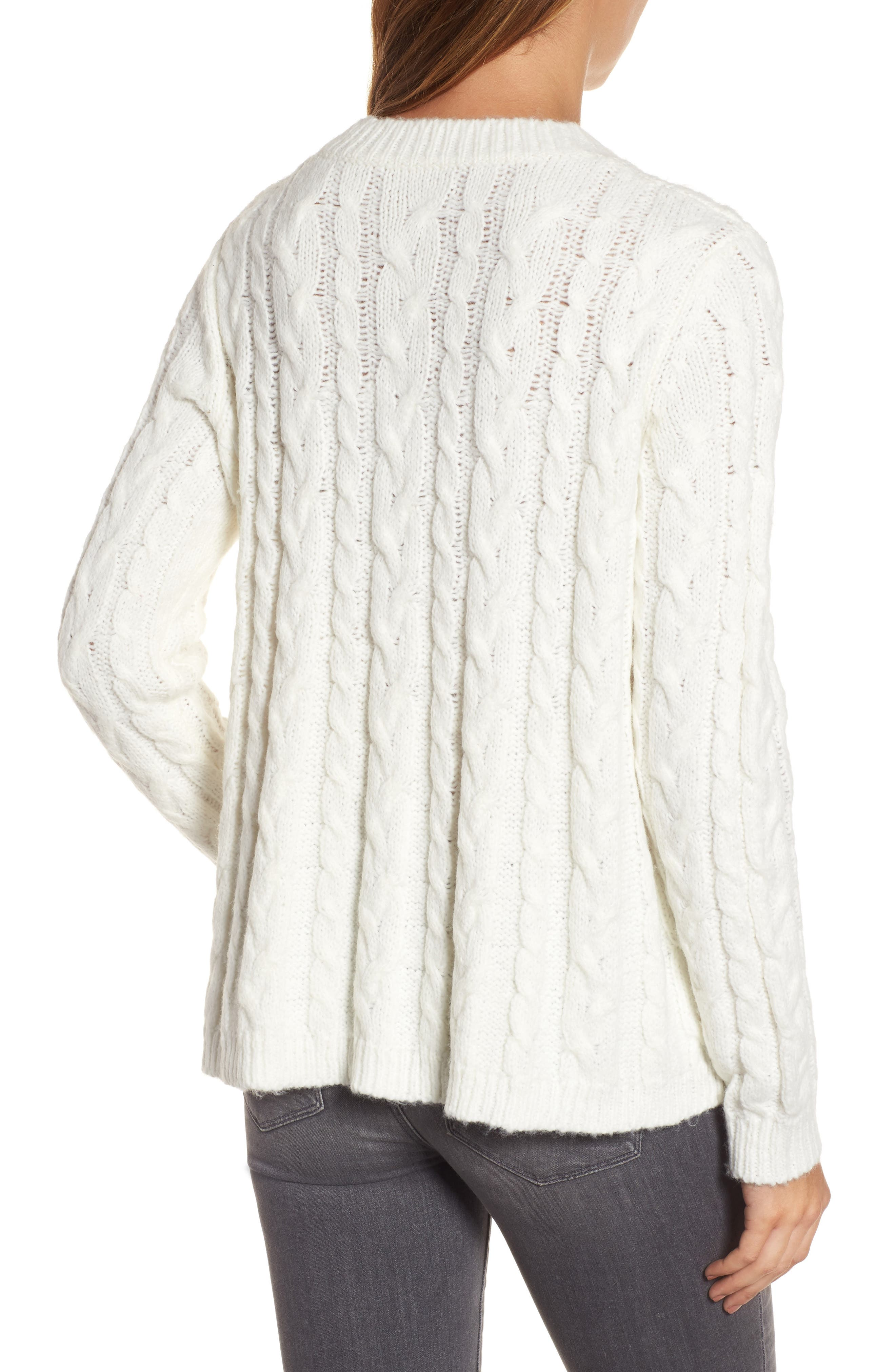 Alternate Image 2  - Press Trapeze Fit Cable Knit Sweater