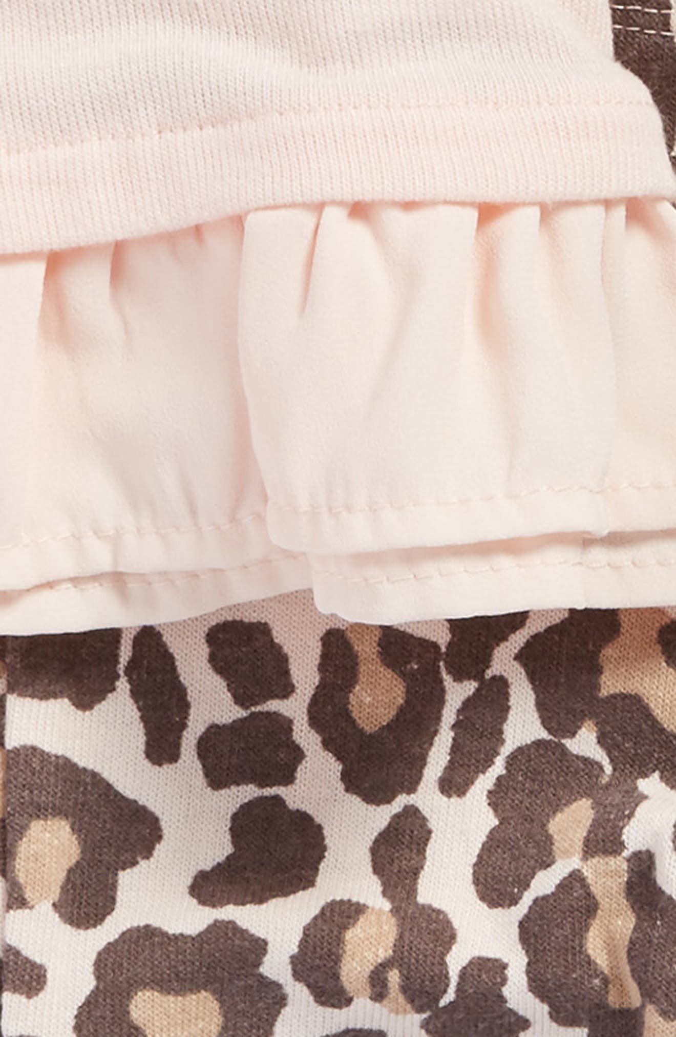 Top & Print Leggings Set,                             Alternate thumbnail 2, color,                             Light Pink