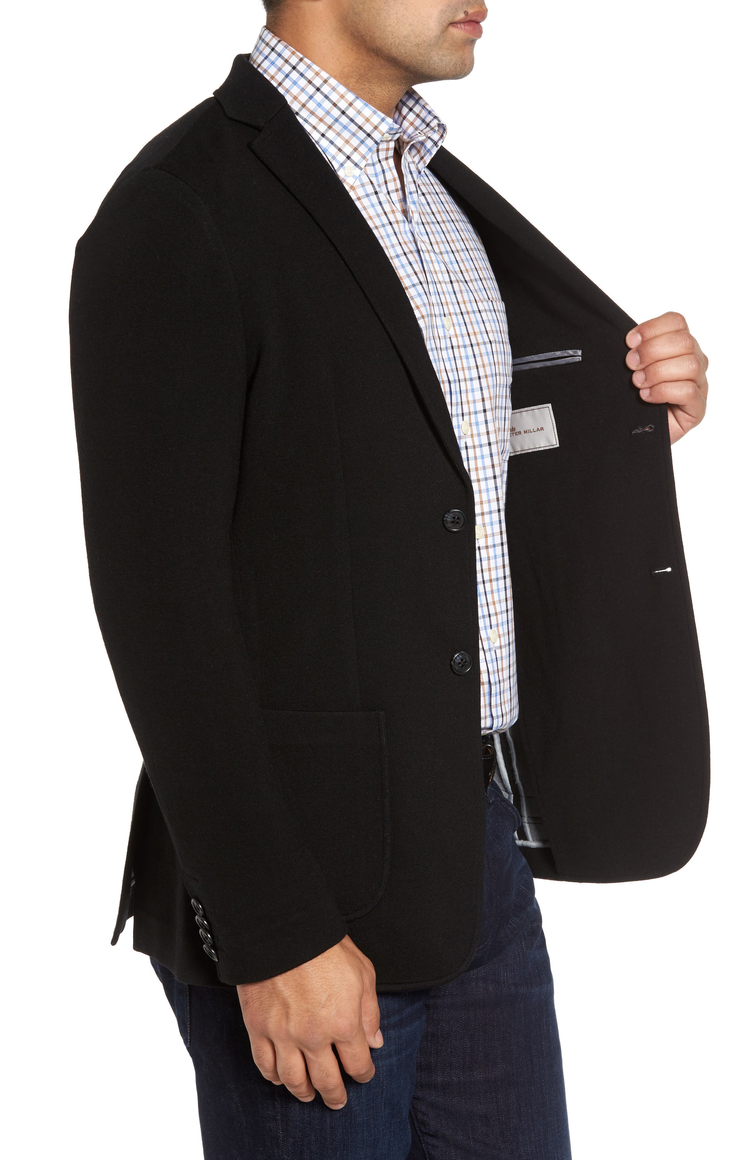 Crown Classic Fit Blazer,                             Alternate thumbnail 3, color,                             Black