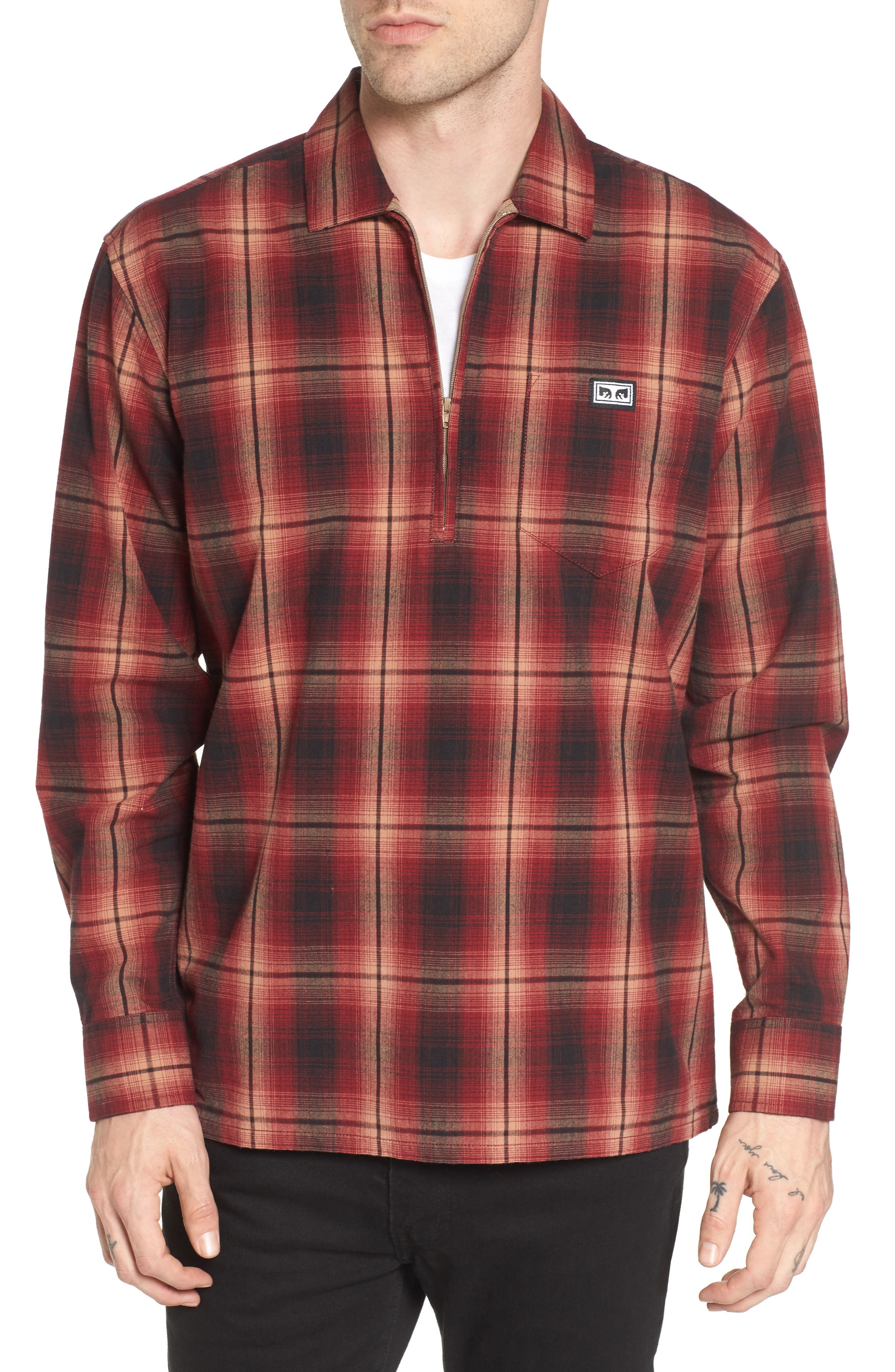 Obey Loose Moves Zip Shirt
