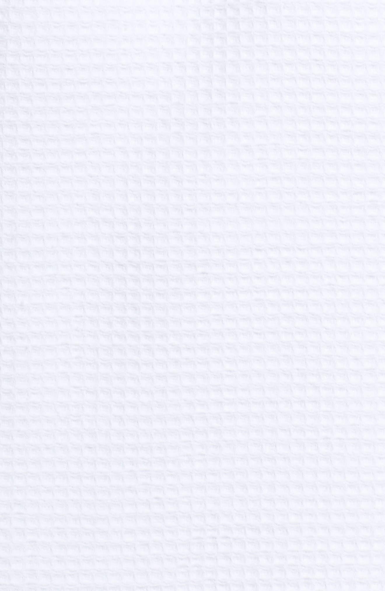 Waffle Knit Short Robe,                             Alternate thumbnail 5, color,                             White