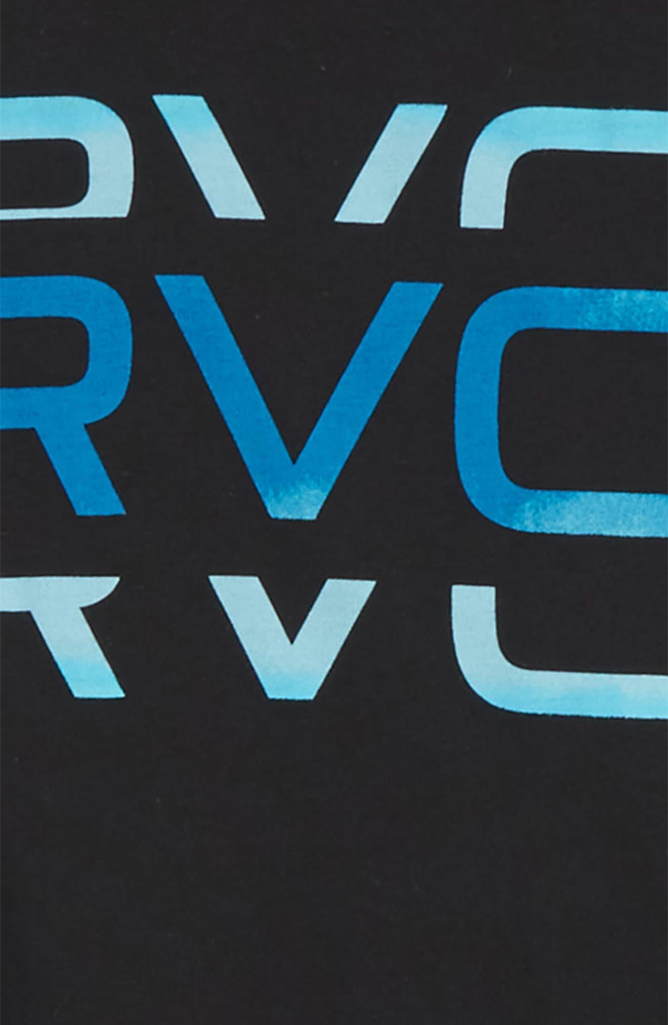 Alternate Image 2  - RVCA Cut Logo Graphic T-Shirt (Big Boys)