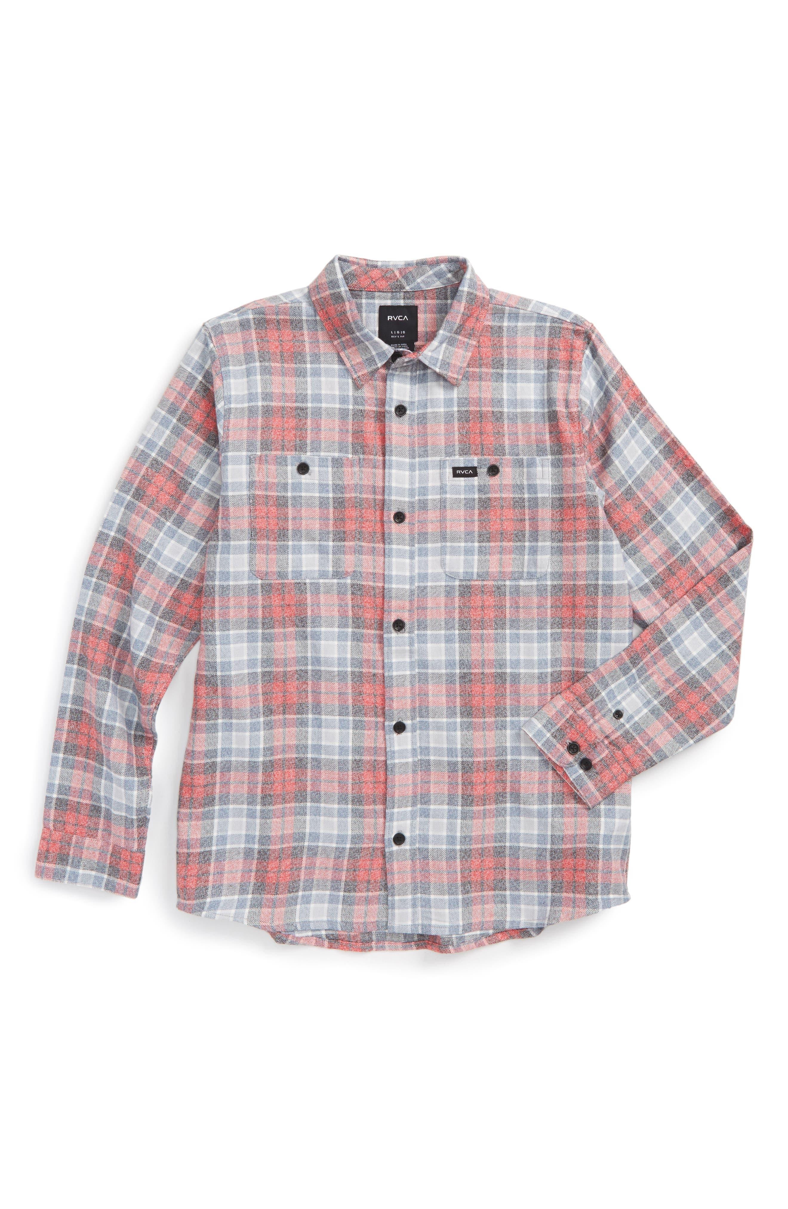 RVCA Diffusion Plaid Shirt (Big Boys)