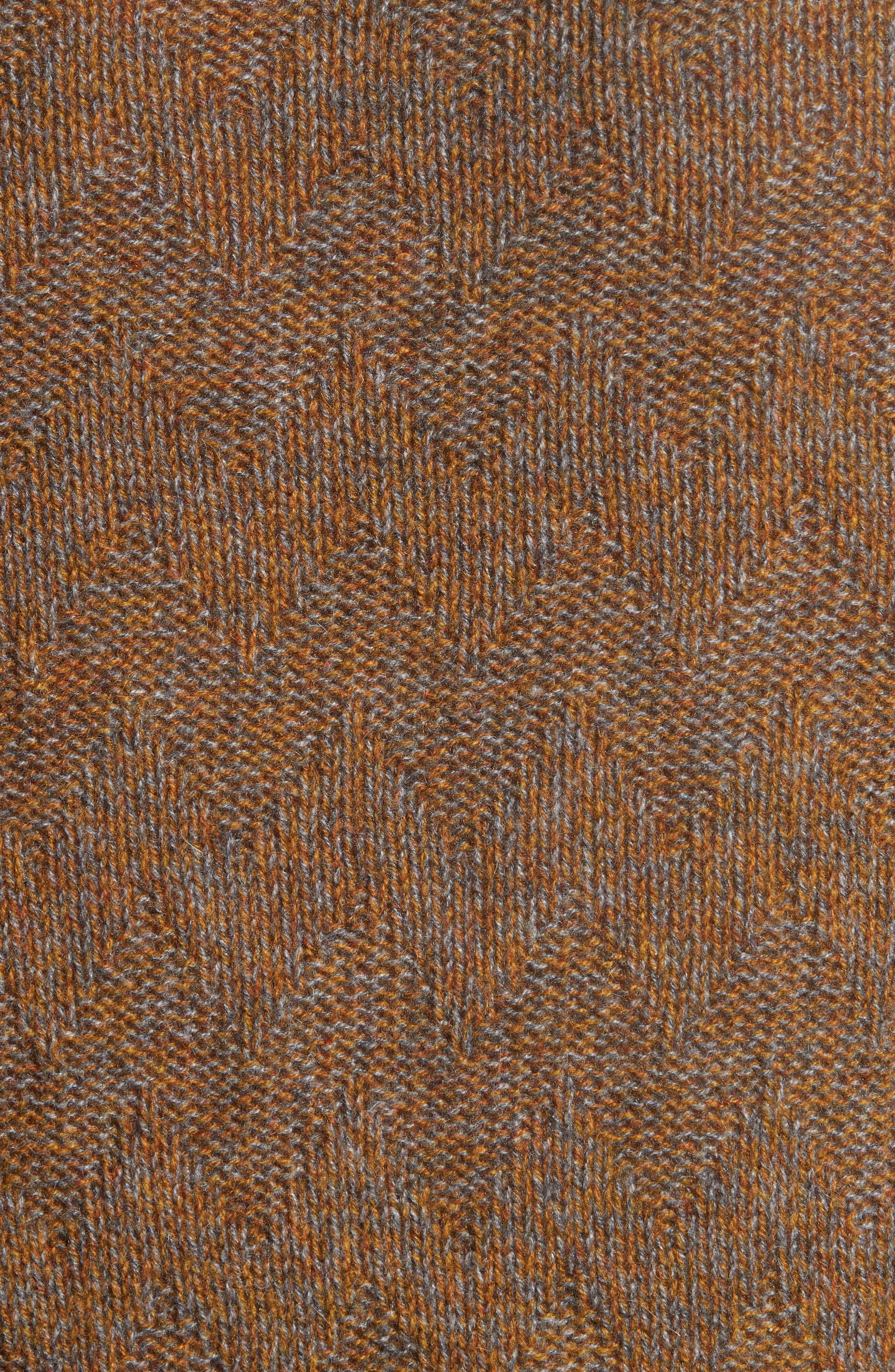 Chevron Knit Cashmere Sweater,                             Alternate thumbnail 6, color,                             Brown