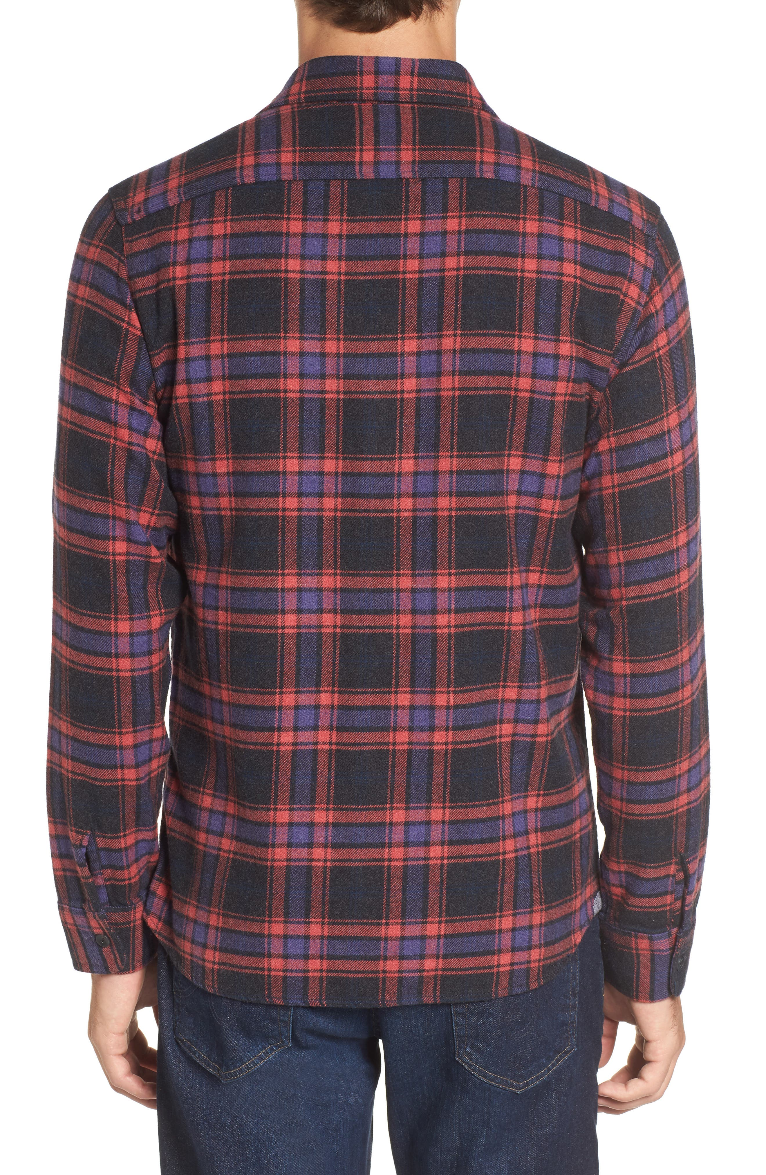 Chaucer Heritage Flannel Shirt,                             Alternate thumbnail 2, color,                             Charcoal Red