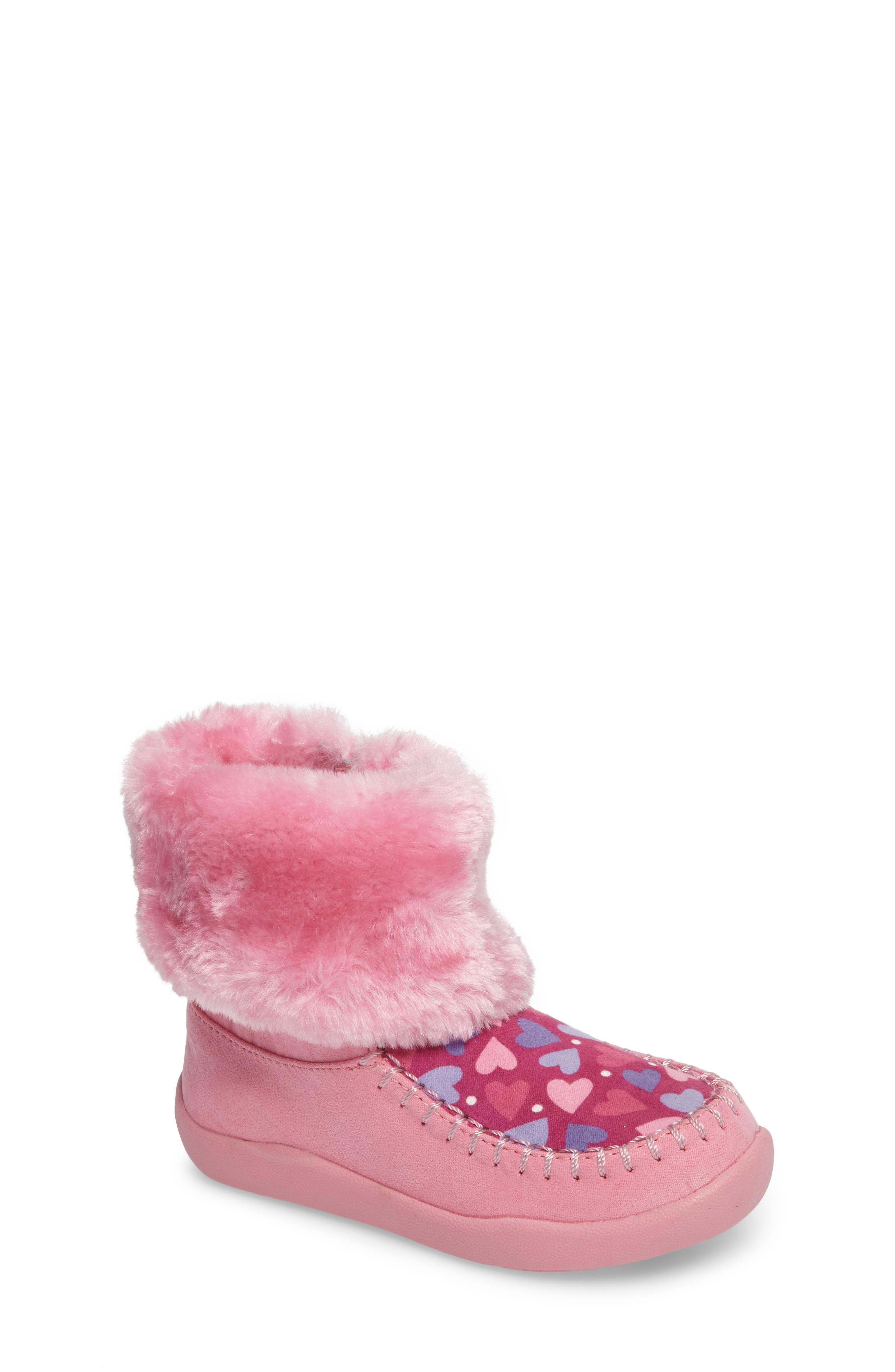 CHOOZE Comfy Faux Fur Patterned Boot (Toddler)