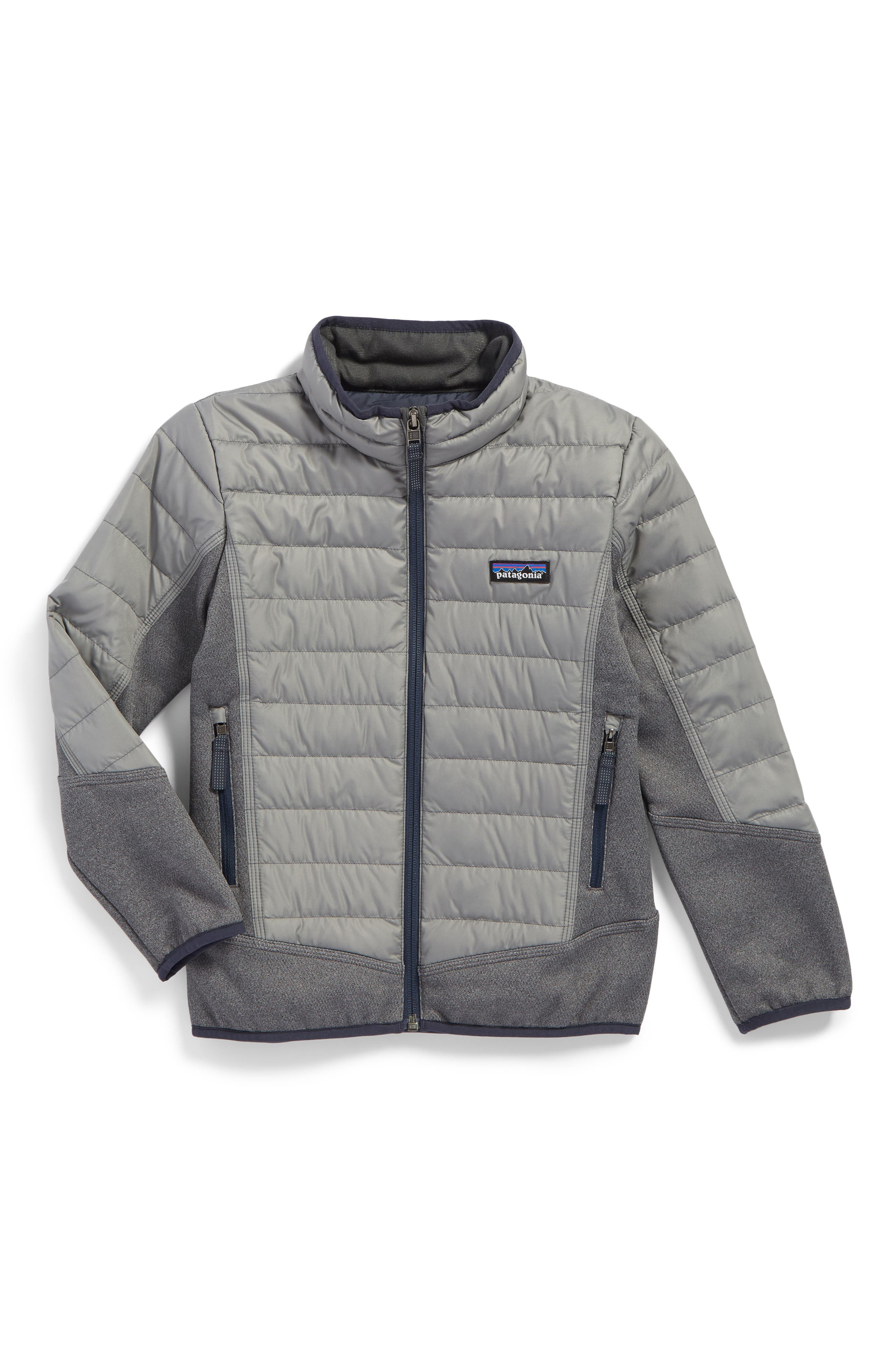 600-Fill Power Down Water-Repellent Hybrid Jacket,                         Main,                         color, Feather Grey