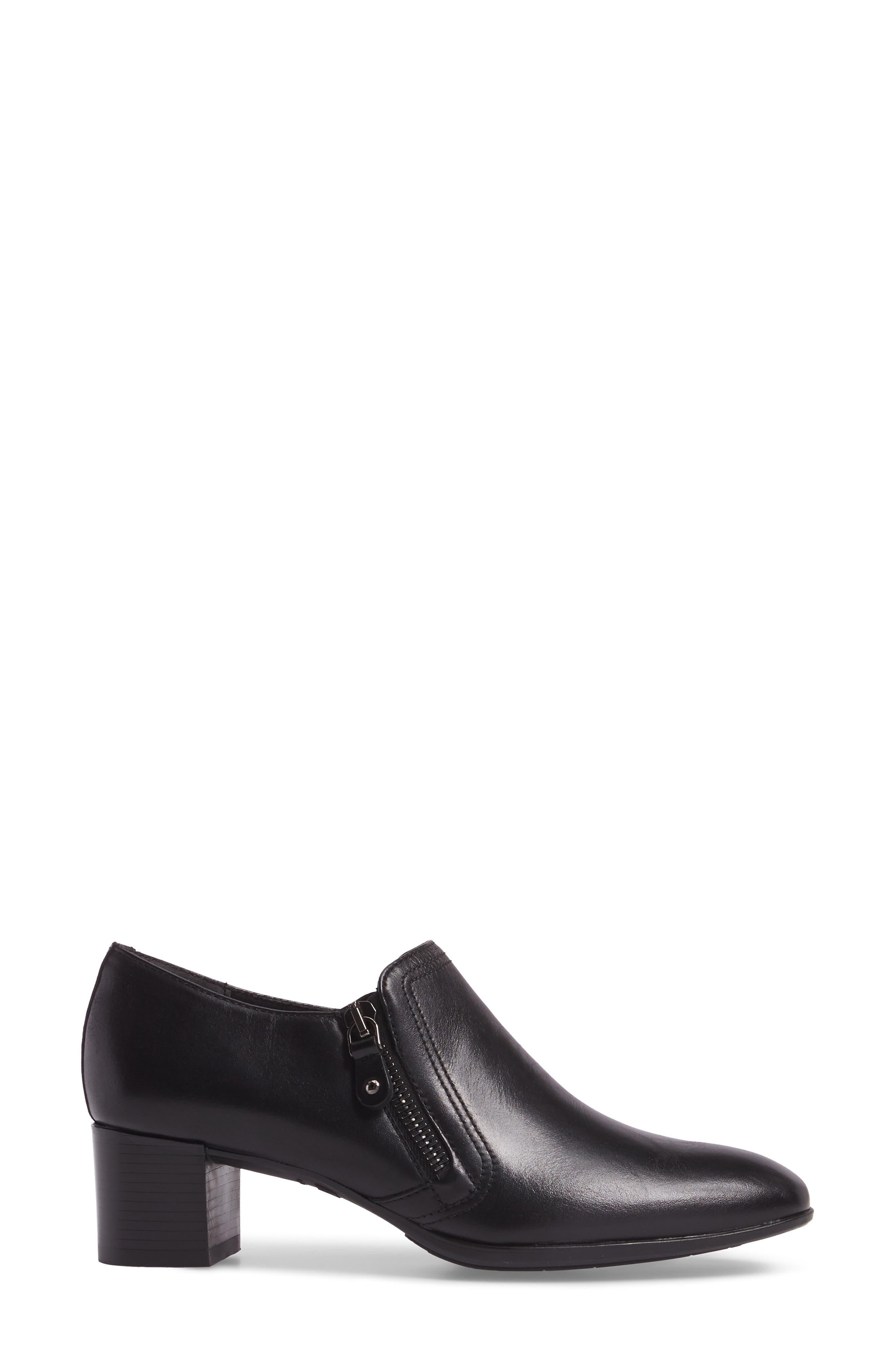 Annee Pump,                             Alternate thumbnail 3, color,                             Black Leather