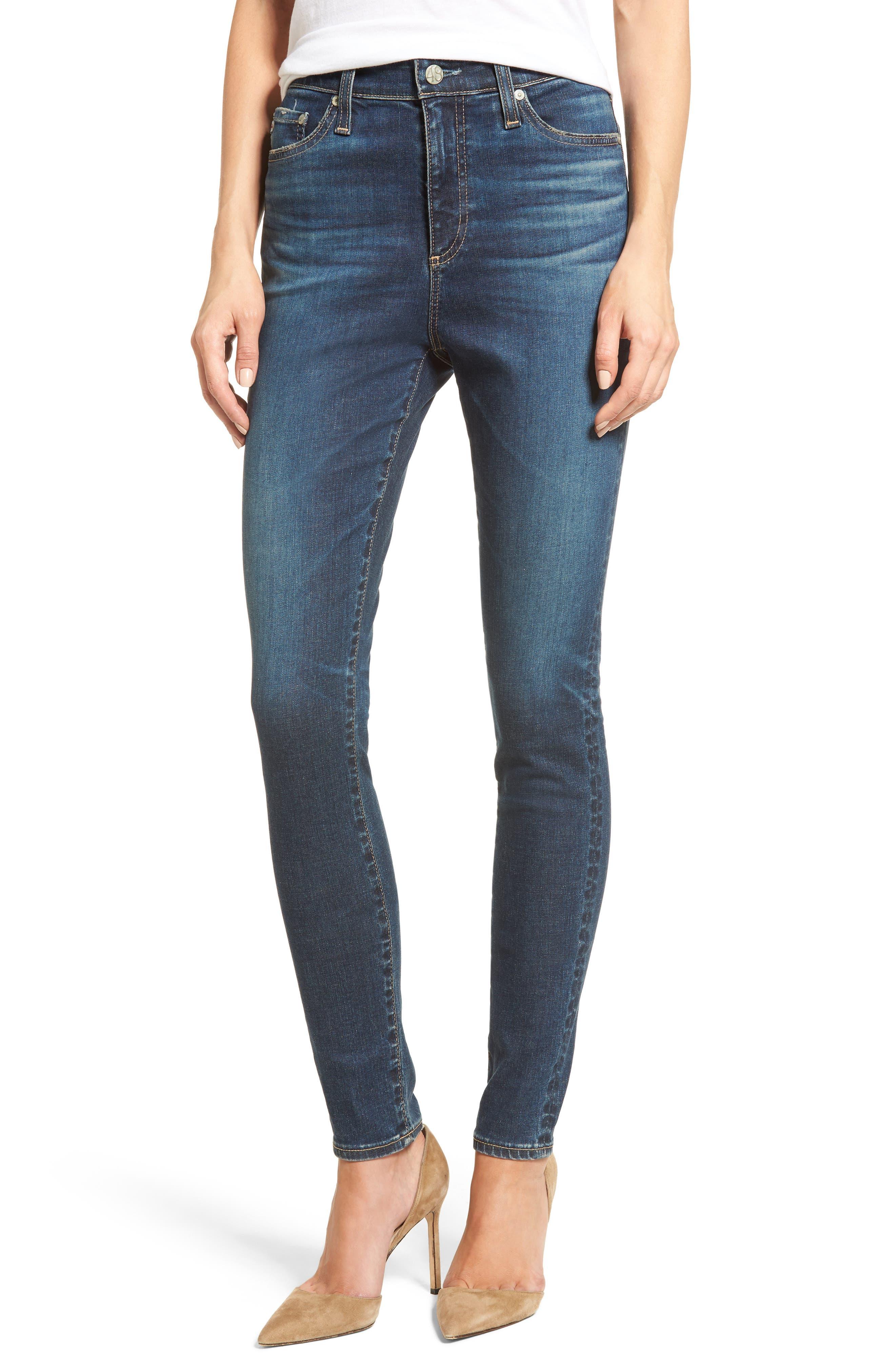 Alternate Image 1 Selected - AG Mila High Rise Skinny Jeans (06 Years Songbird)