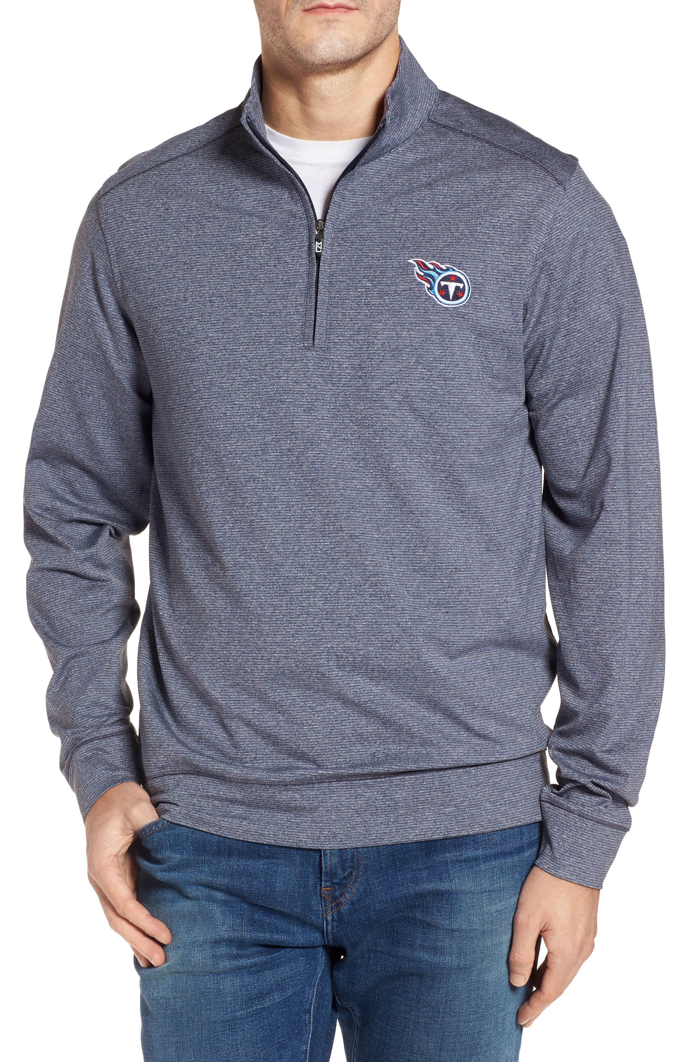 Shoreline - Tennessee Titans Half Zip Pullover,                         Main,                         color, Liberty Navy Heather