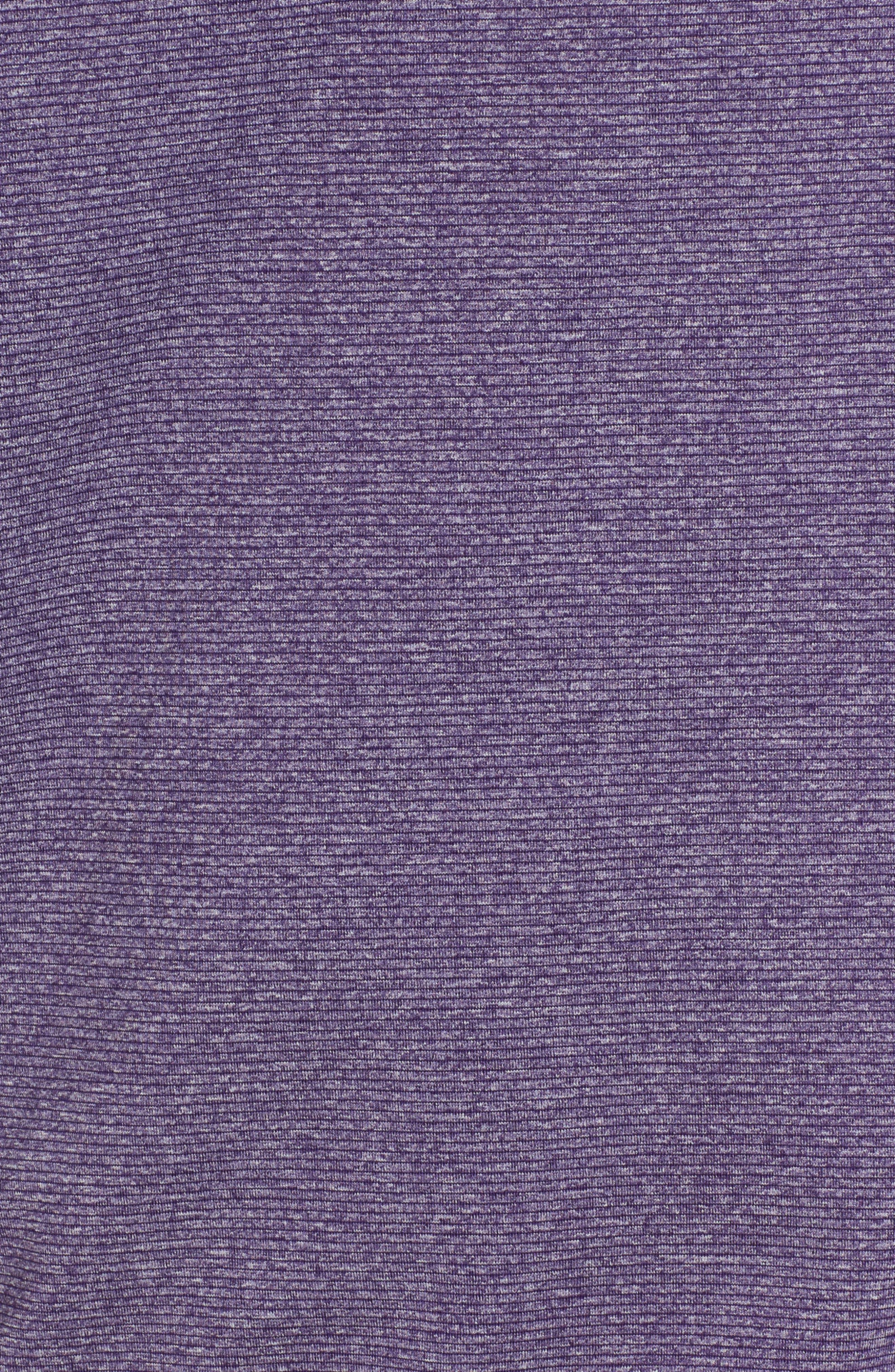 Shoreline - Baltimore Ravens Half Zip Pullover,                             Alternate thumbnail 5, color,                             College Purple Heather