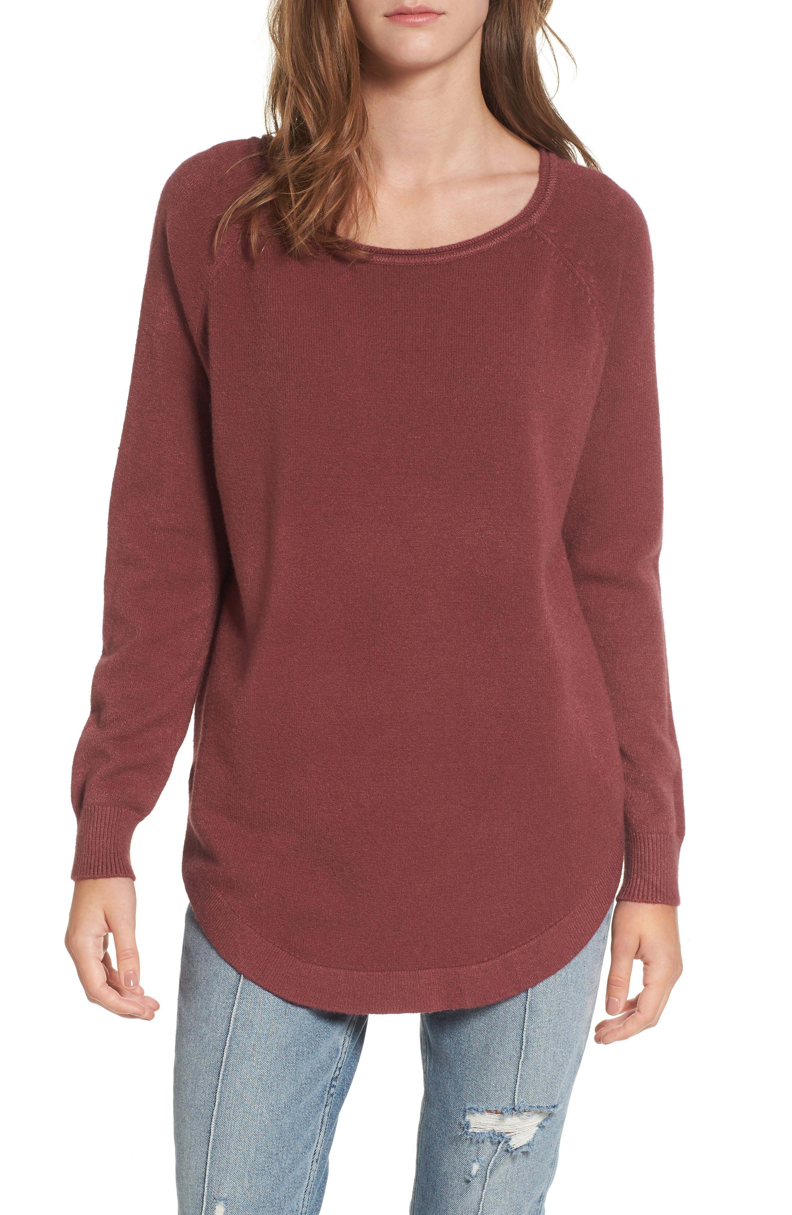 Dreamers by Debut Shirttail Hem Sweater