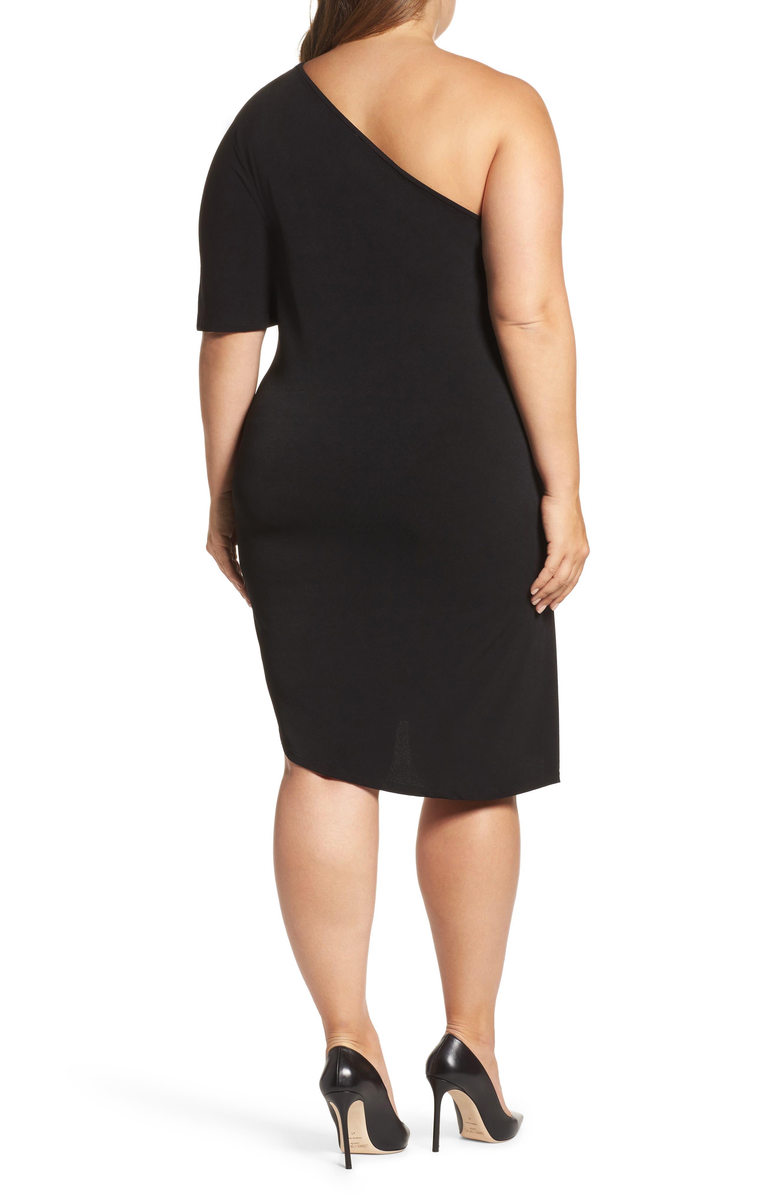 Alternate Image 2  - Leota Christina One-Shoulder Dress (Plus Size)