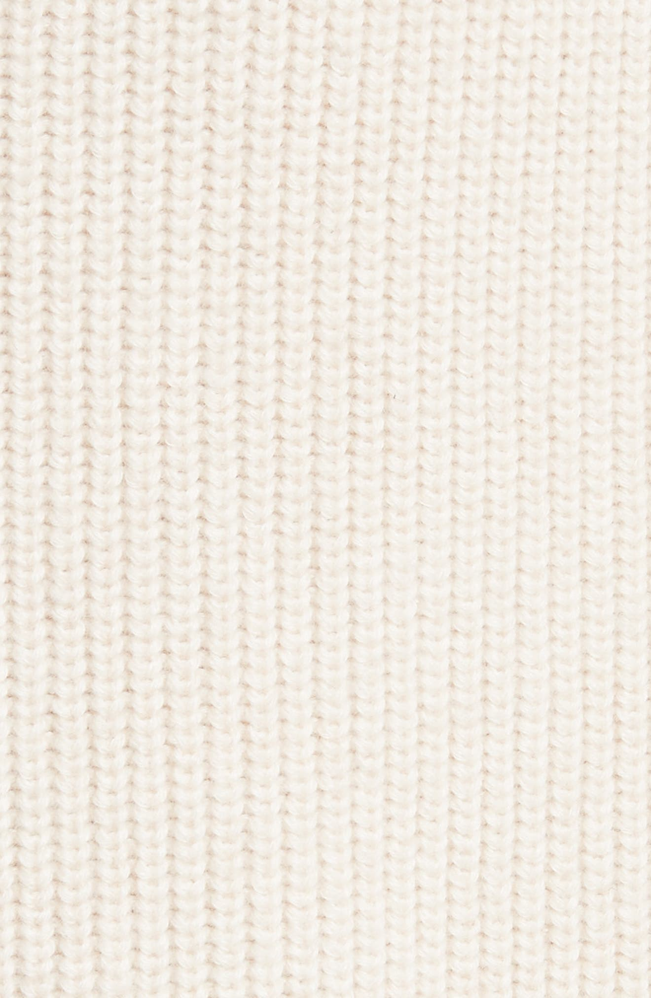 Cotton & Cashmere Cardigan,                             Alternate thumbnail 5, color,                             Oatmeal Melange