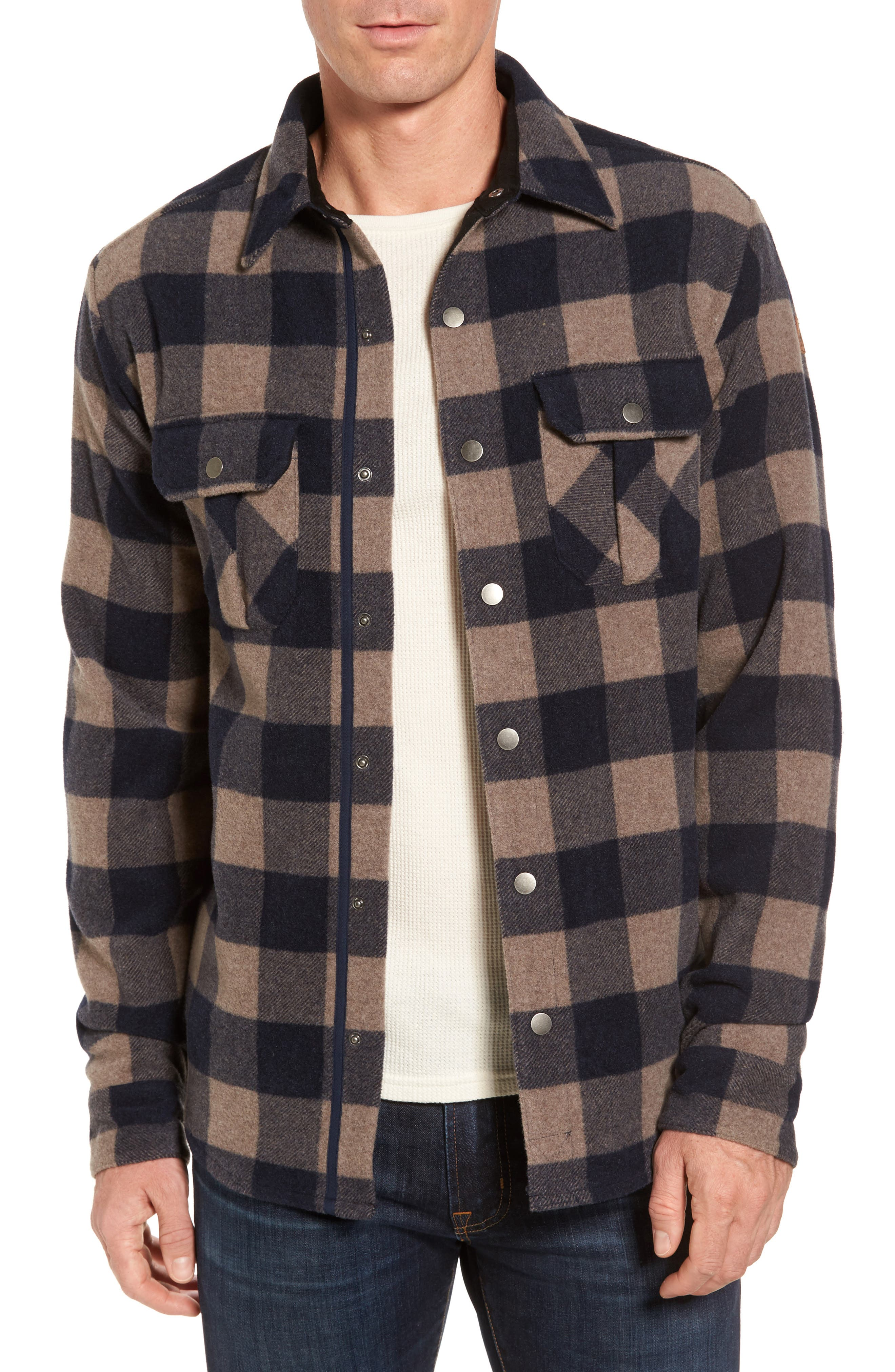 Anchor Line Flannel Shirt Jacket,                         Main,                         color, Navy