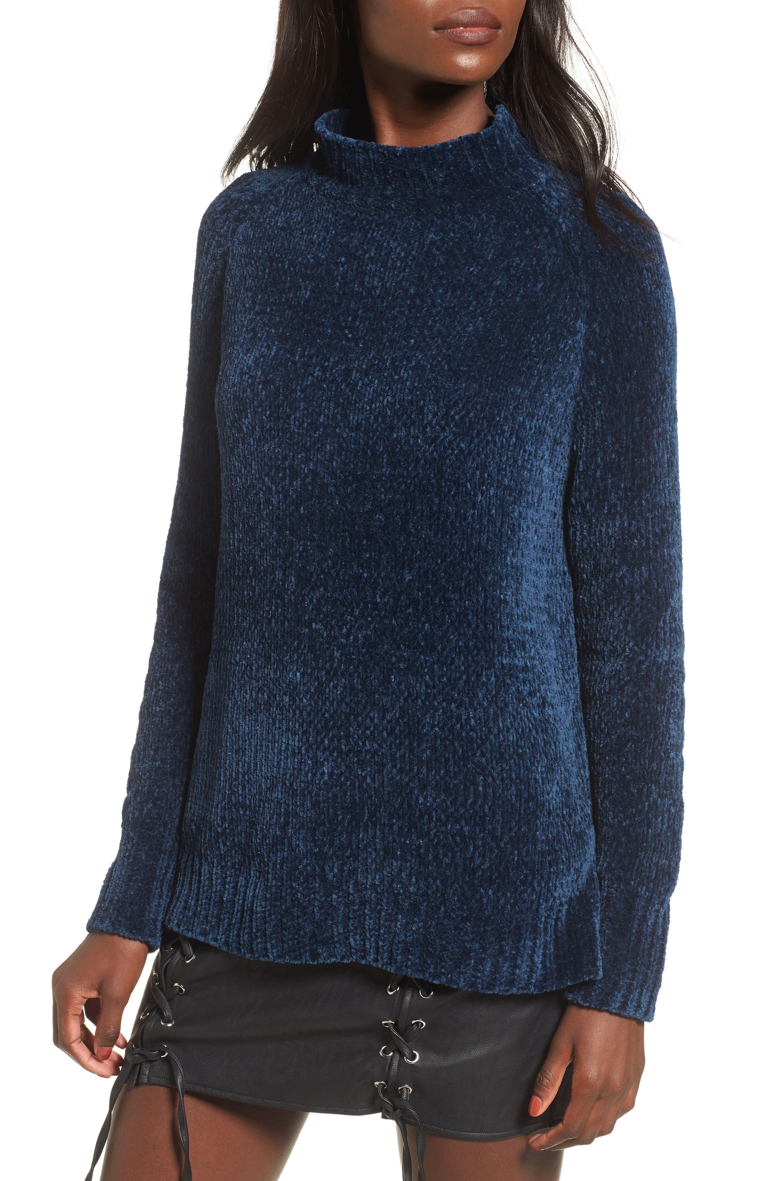 Main Image - Lost + Wander Maya Chenille Mock Neck Sweater