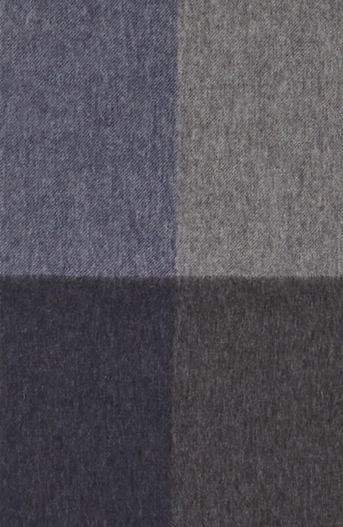 Colorblock Wool Scarf,                             Alternate thumbnail 3, color,                             Navy Midnight - Grey