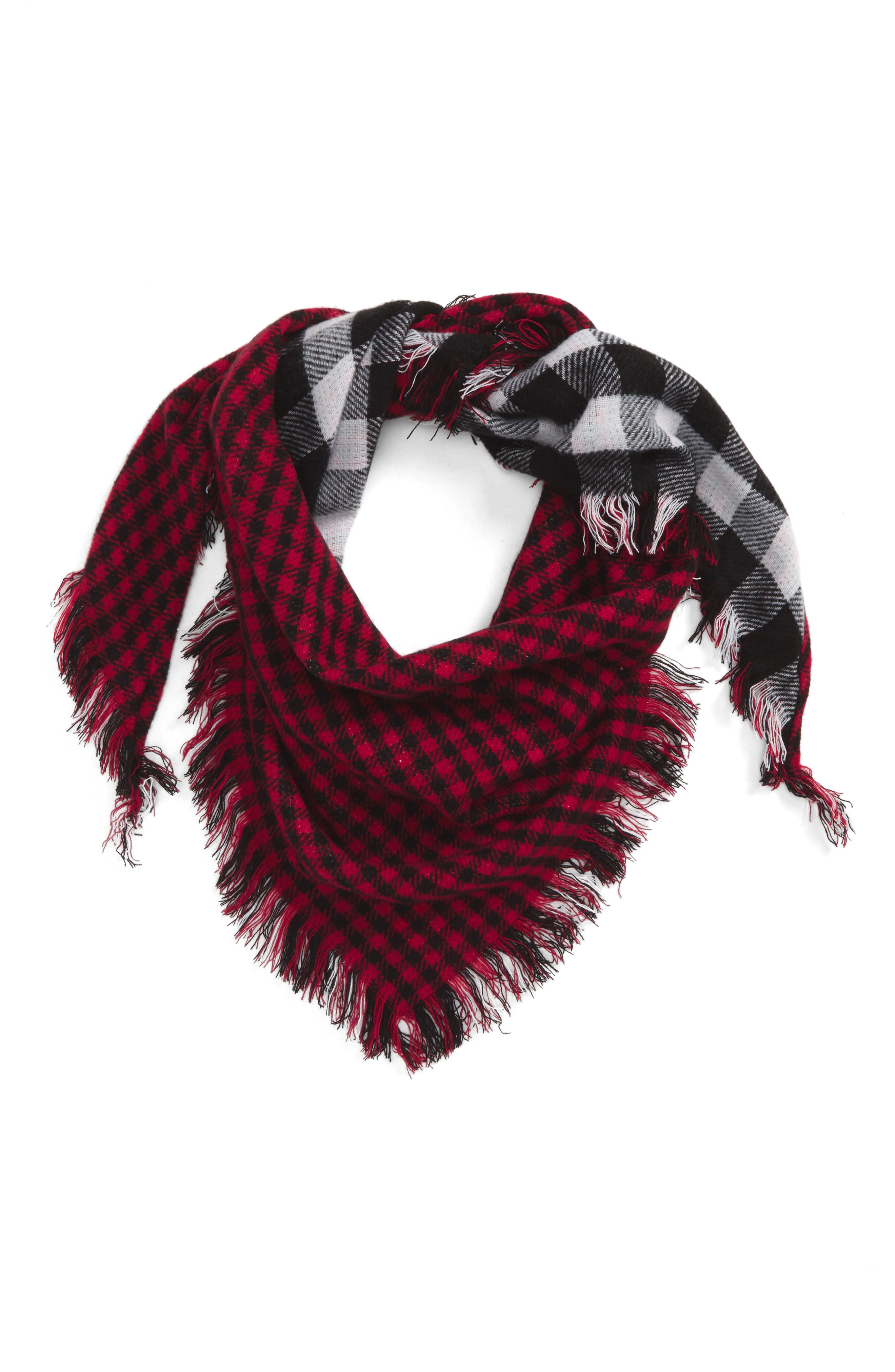 Capelli of New York Reversible Plaid Scarf