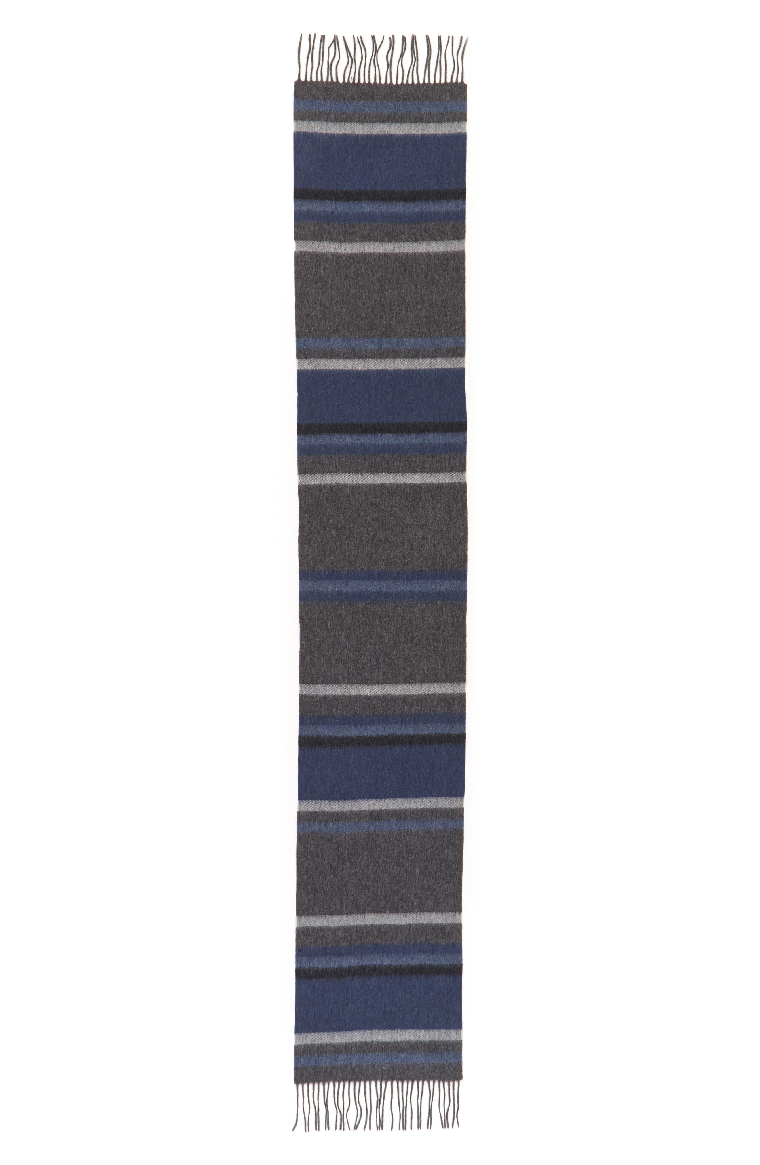 Alternate Image 2  - Nordstrom Men's Shop Multistripe Lambswool Scarf