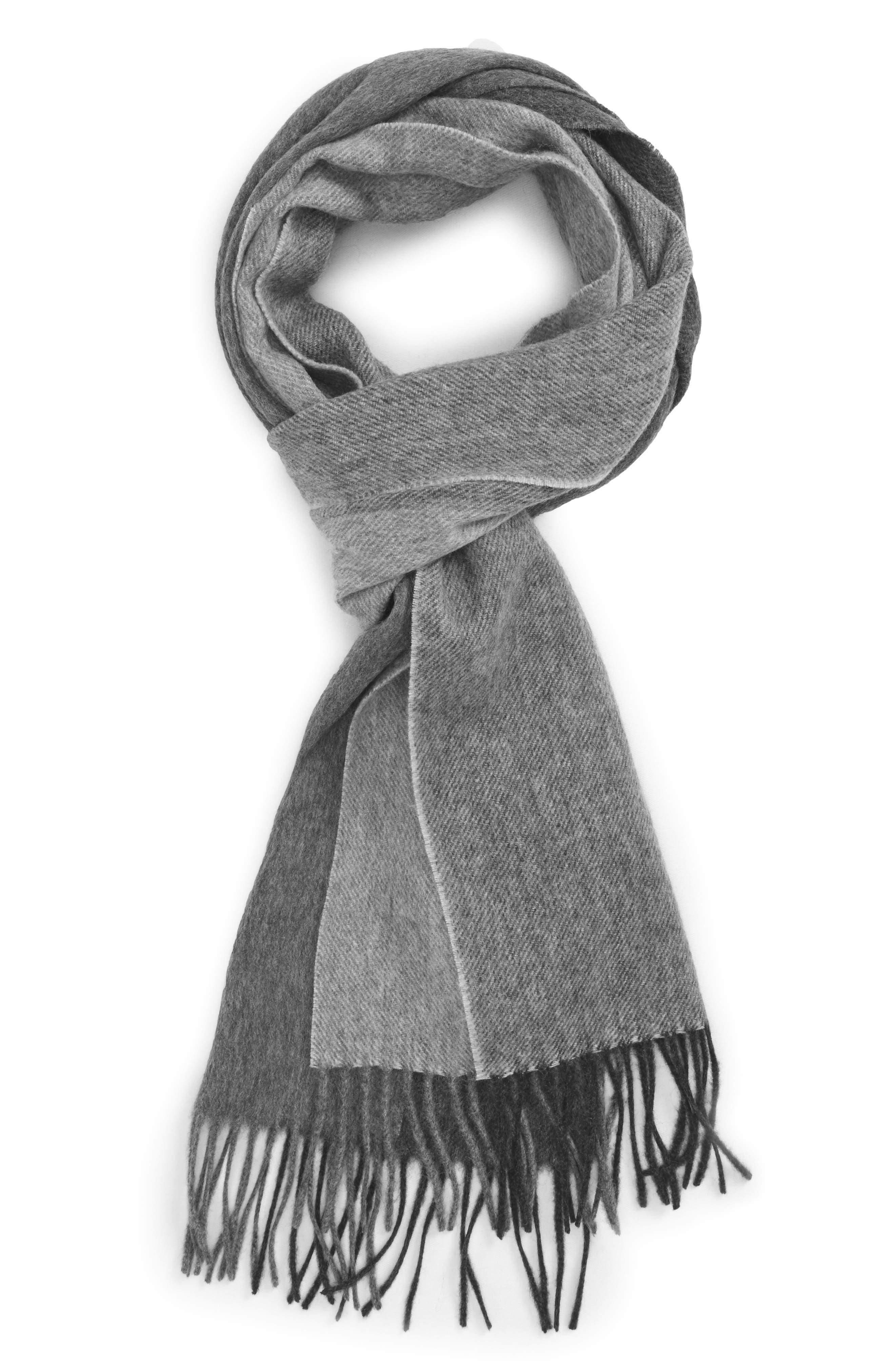 Alternate Image 1 Selected - Nordstrom Men's Shop Colorblock Wool Scarf