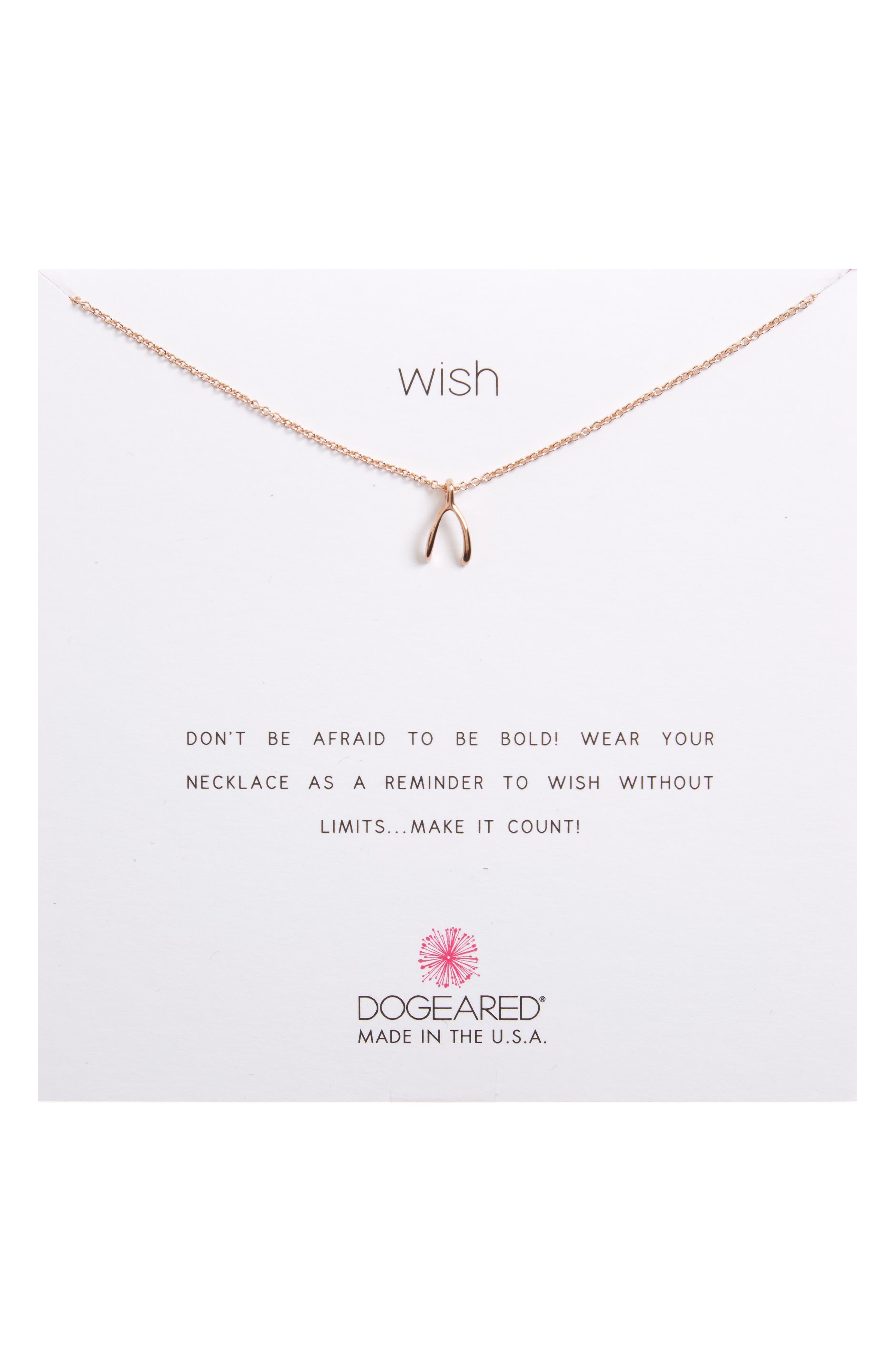 Main Image - Dogeared Wishbone Pendant Necklace
