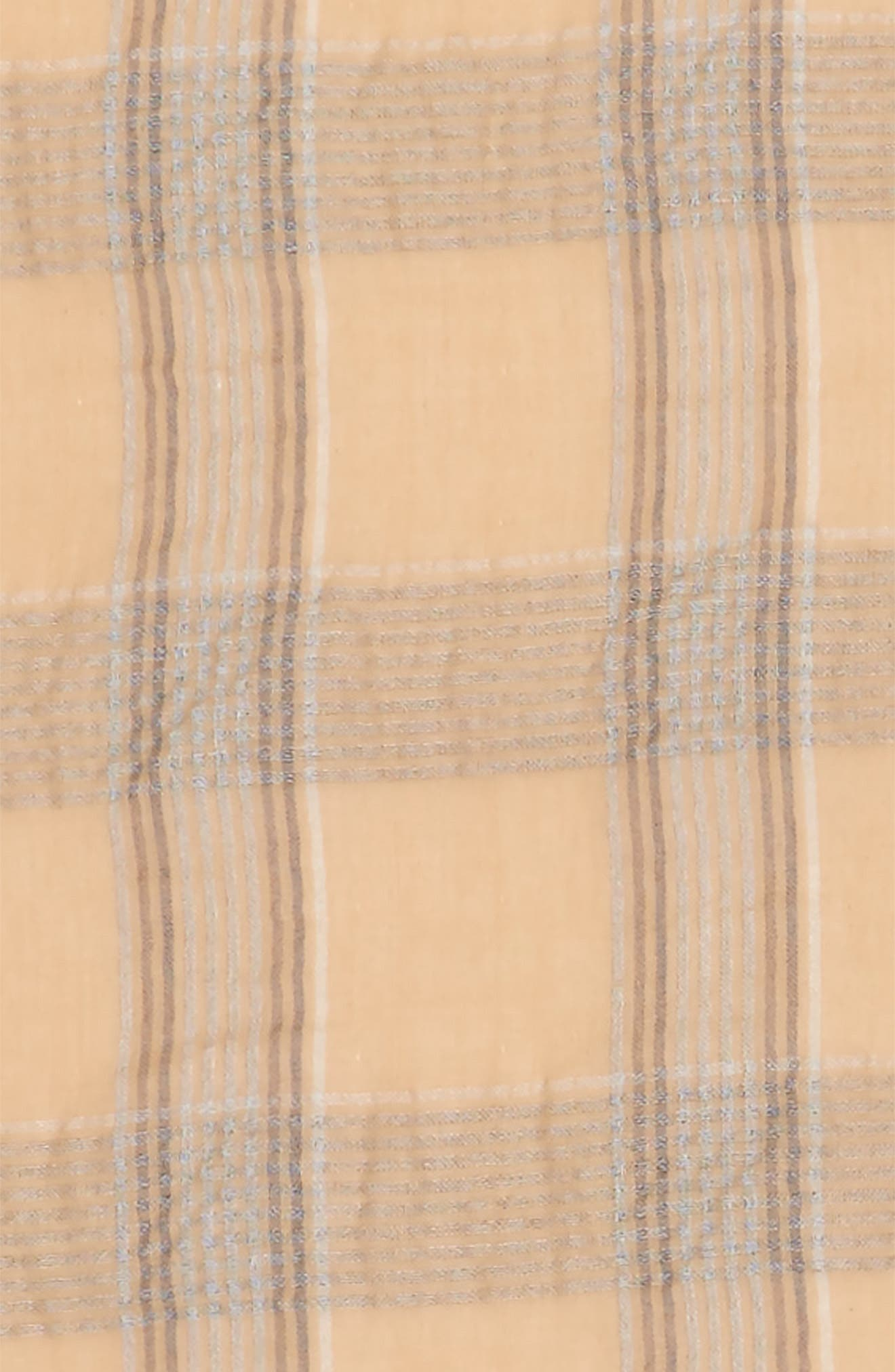 Reversible Plaid Scarf,                             Alternate thumbnail 3, color,                             Tan Multi