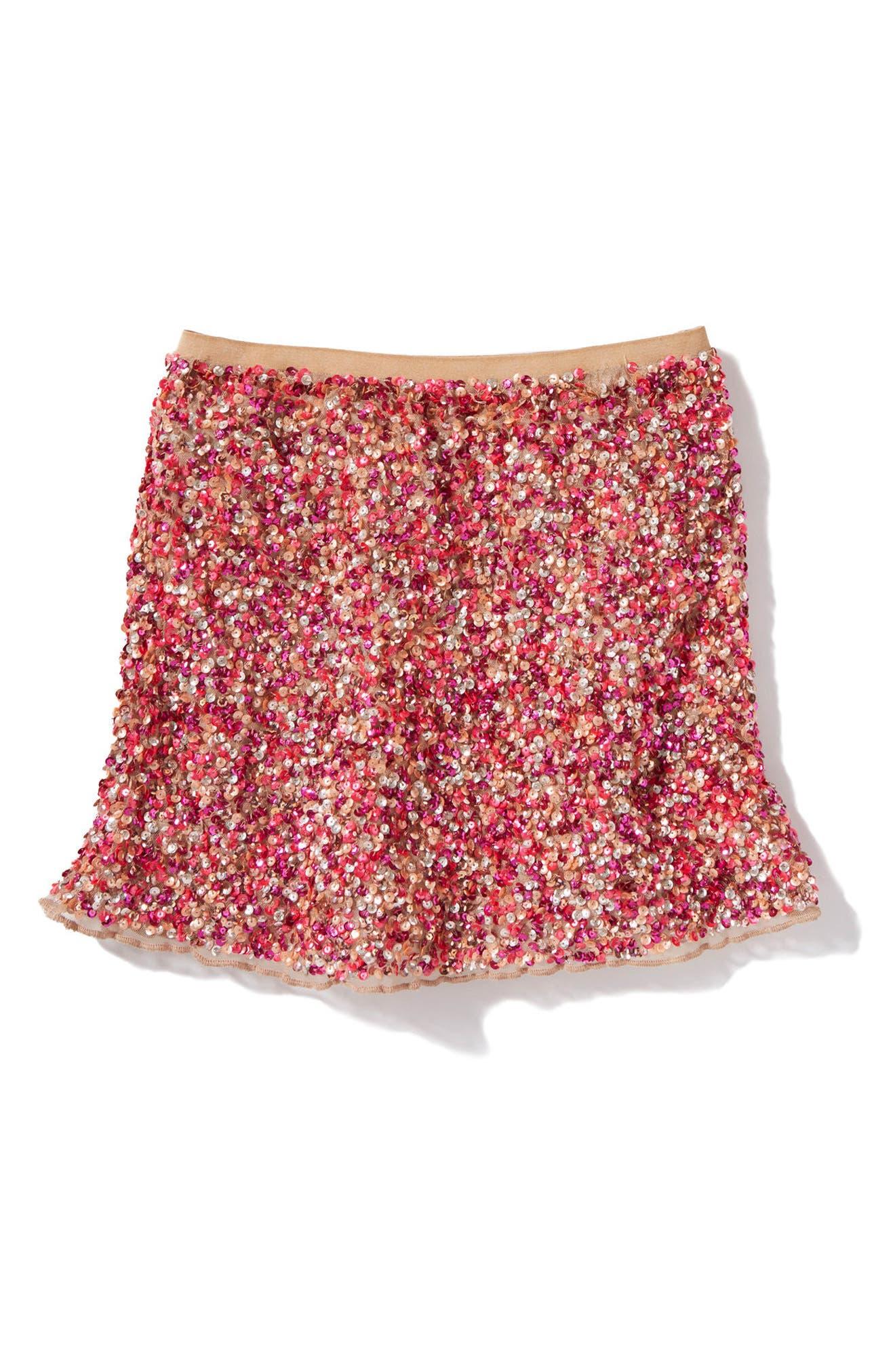 Alternate Image 1 Selected - Peek Ella Sequin Skirt (Little Girls & Big Girls)