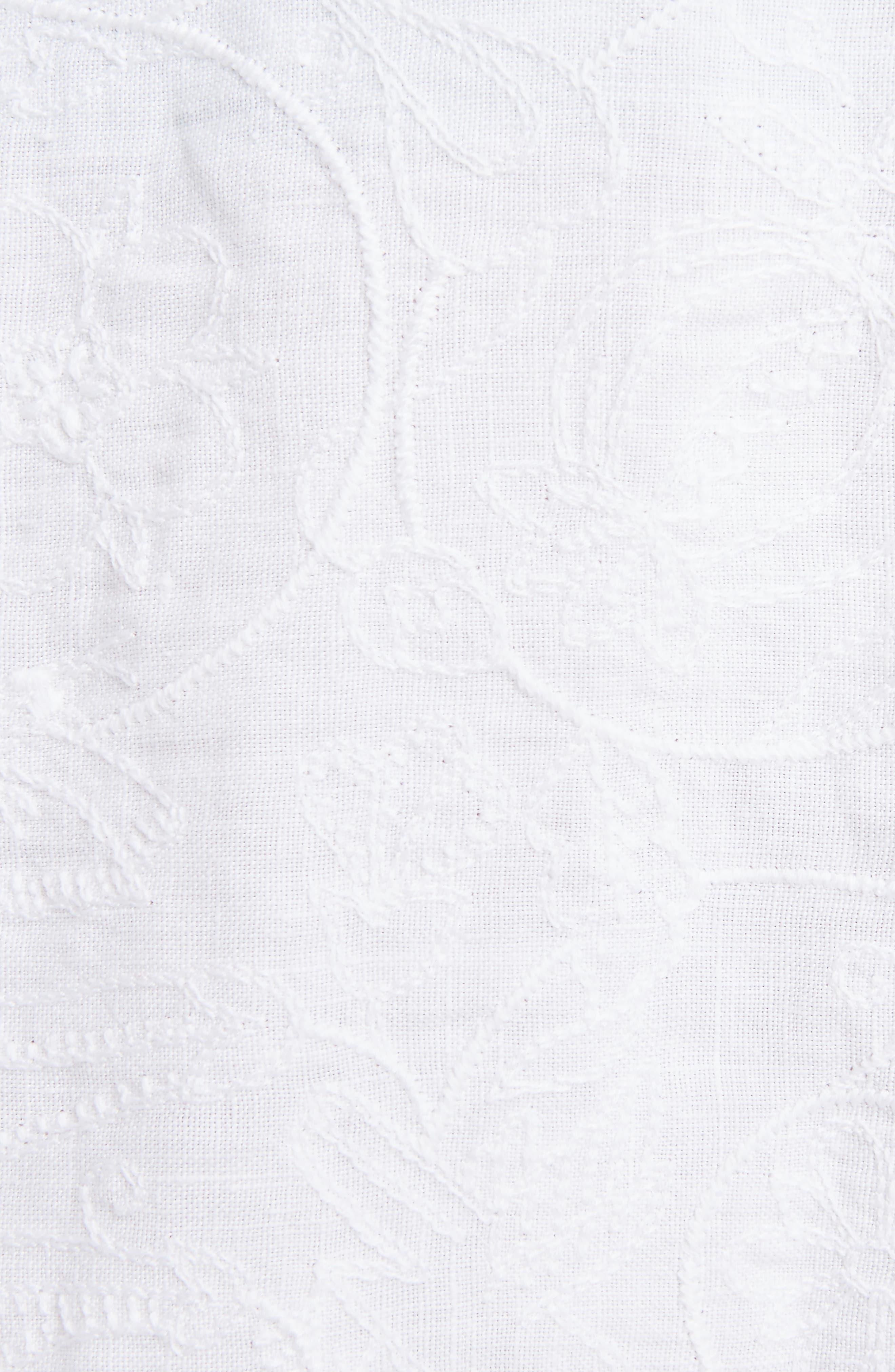 Alternate Image 5  - Loewe Drawstring Waist Broderie Anglaise Skirt