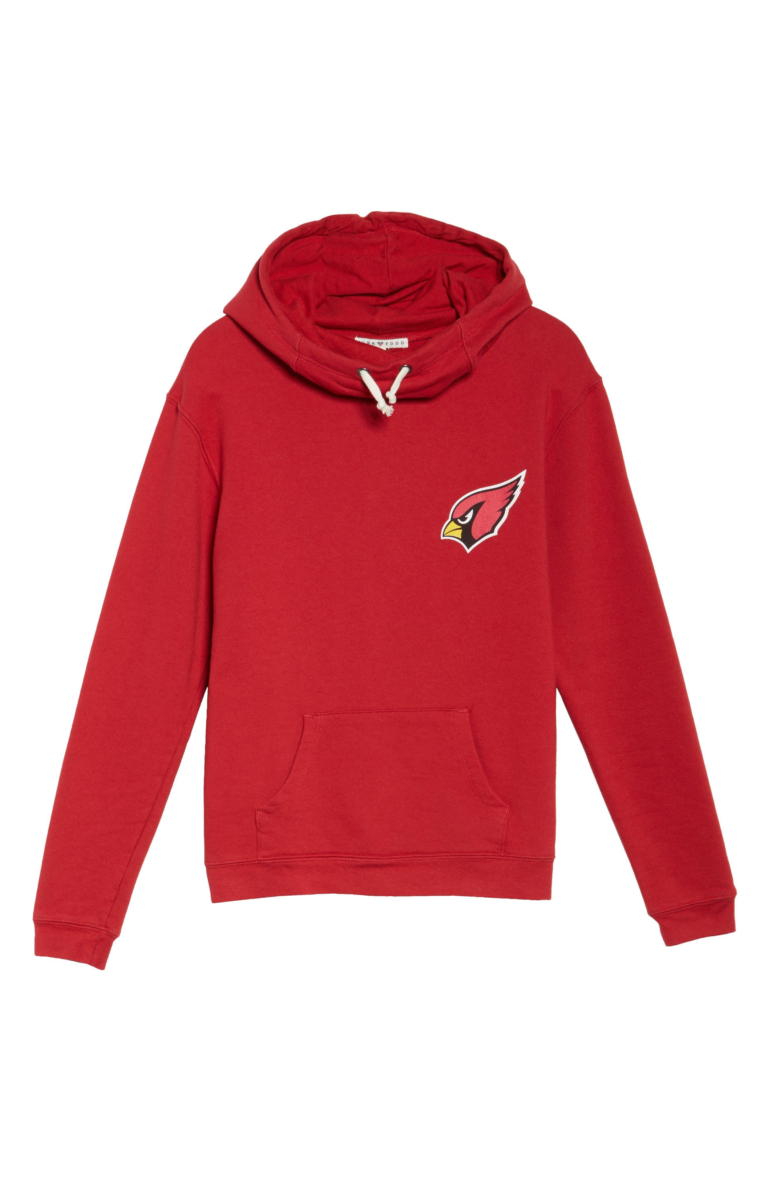 NFL Arizona Cardinals Sunday Hoodie,                             Alternate thumbnail 4, color,                             Cardinal