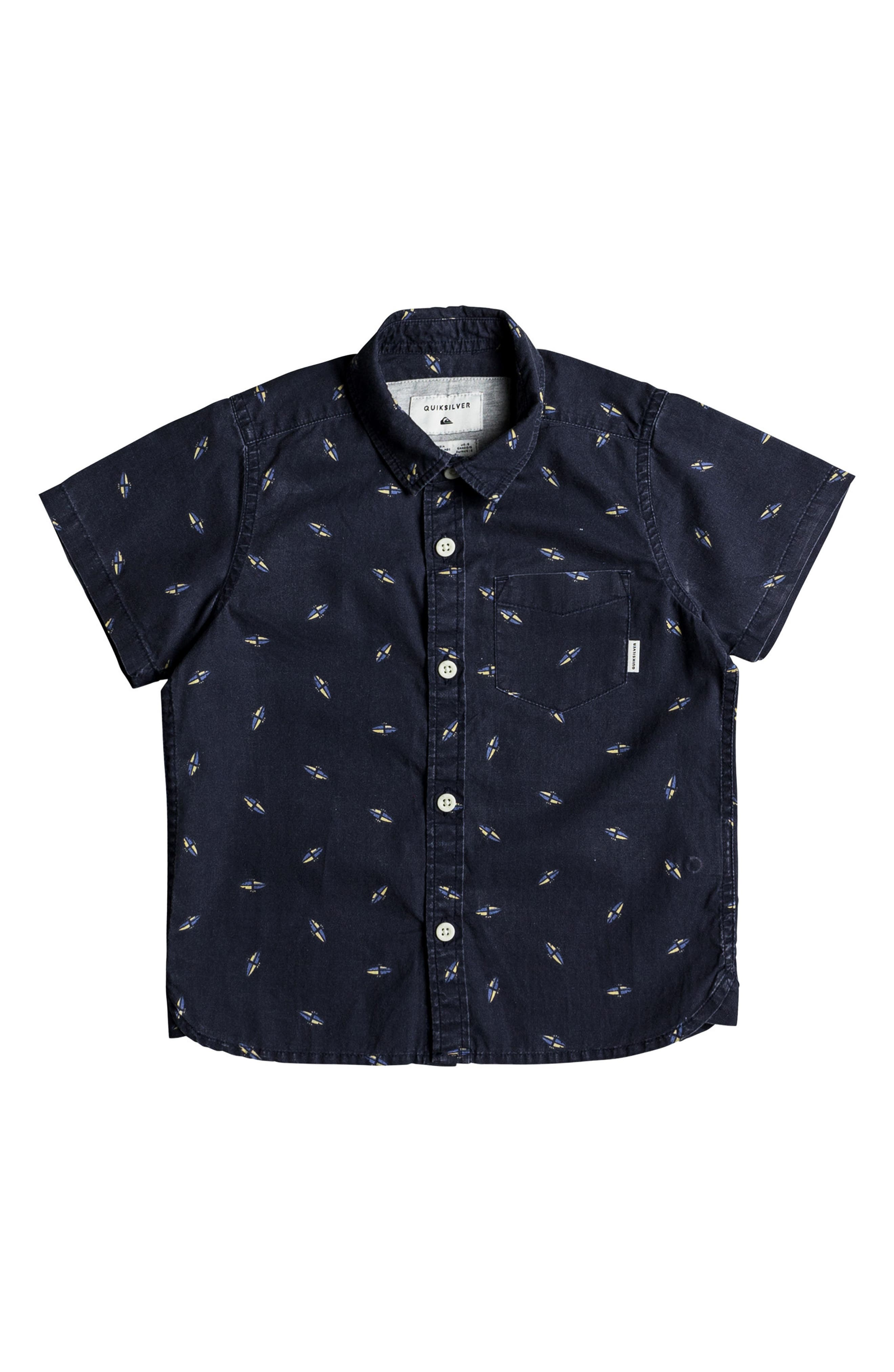 Main Image - Quiksilver Boredsnap Woven Shirt (Toddler Boys & Little Boys)