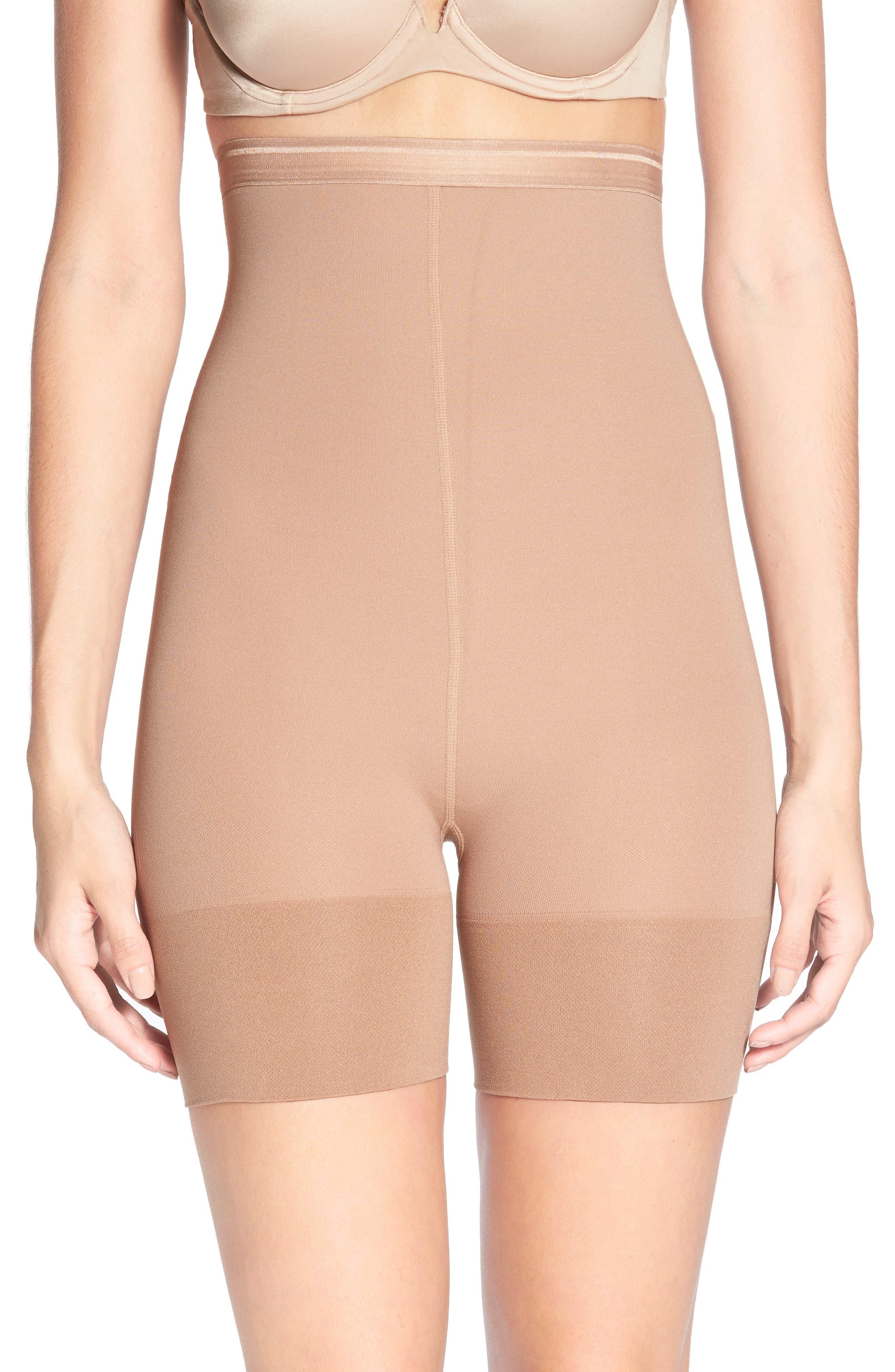 Shorty Shaping Shorts,                             Main thumbnail 1, color,                             Caramel