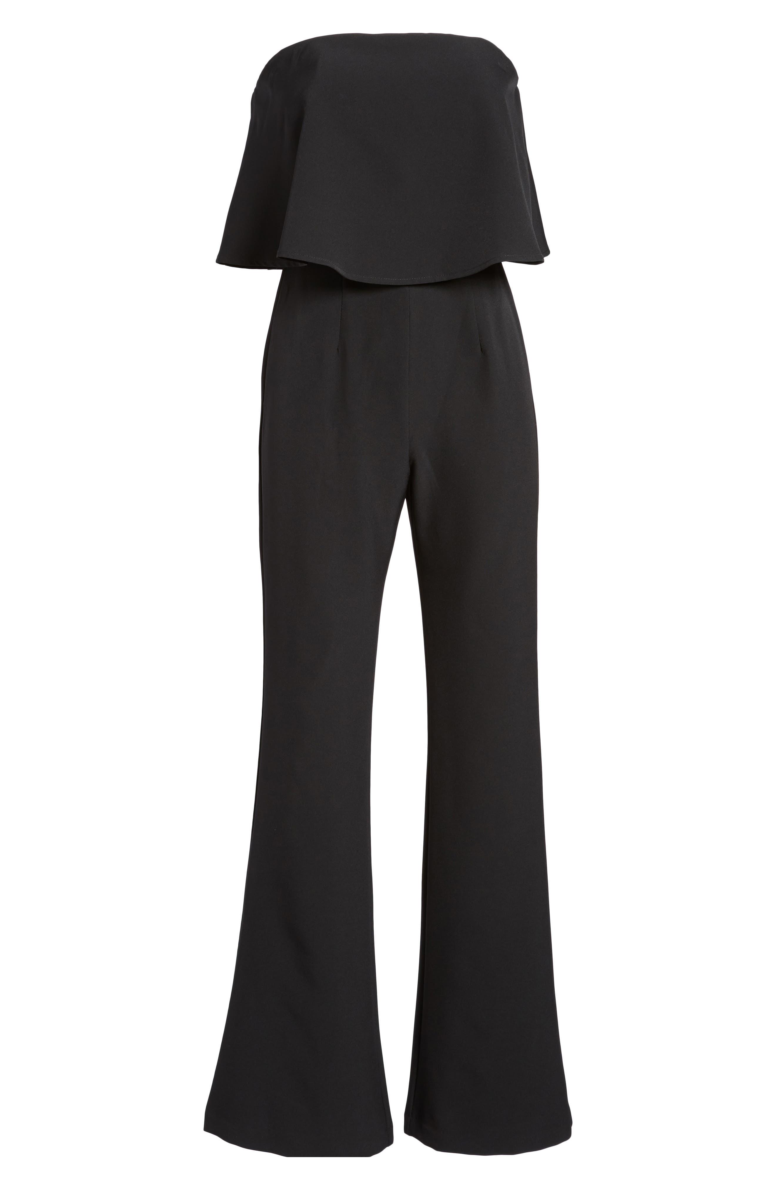 Popover Strapless Jumpsuit,                             Alternate thumbnail 6, color,                             Black