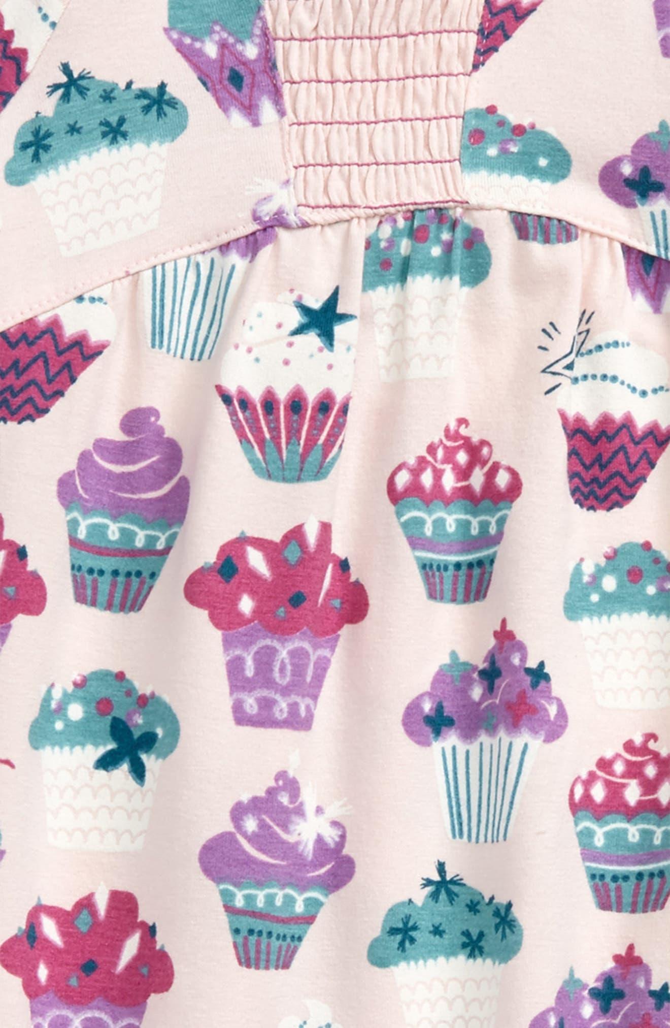 Cupcake Print Romper,                             Alternate thumbnail 2, color,                             Cupcake Love
