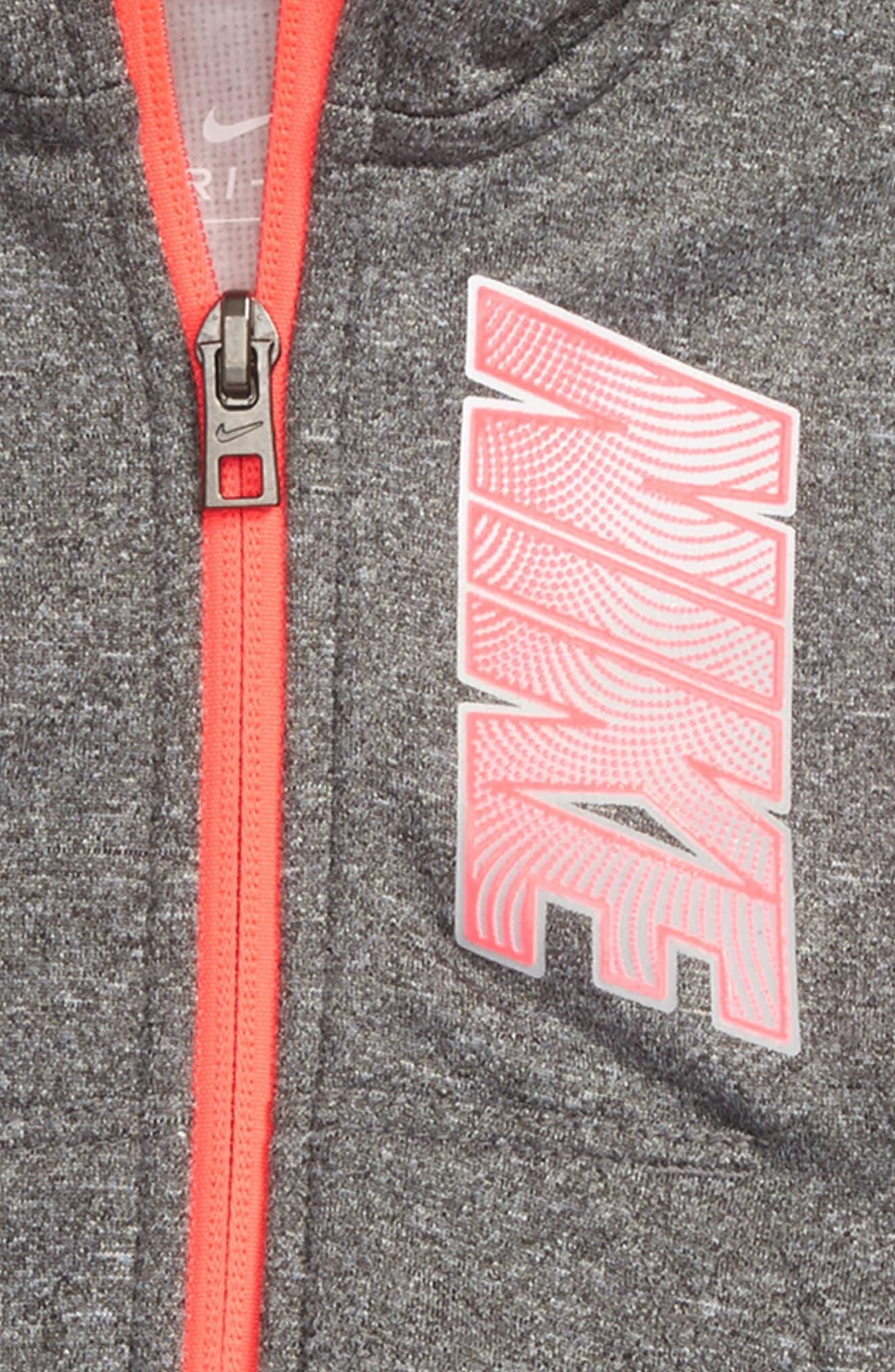 Alternate Image 2  - Nike Therma-FIT Fleece Hoodie & Pants Set (Baby Girls)