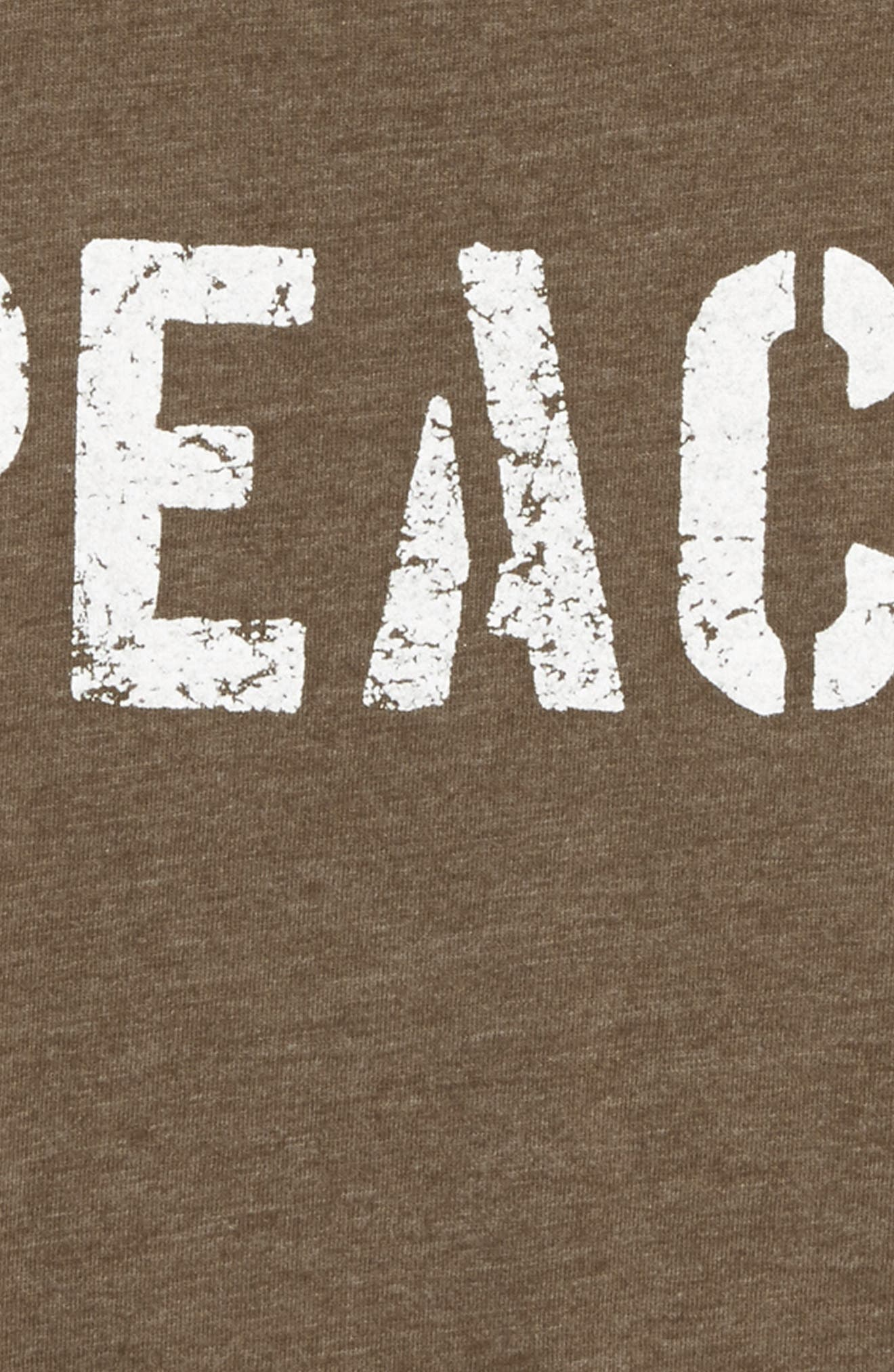 Peace Graphic T-Shirt,                             Alternate thumbnail 2, color,                             Military