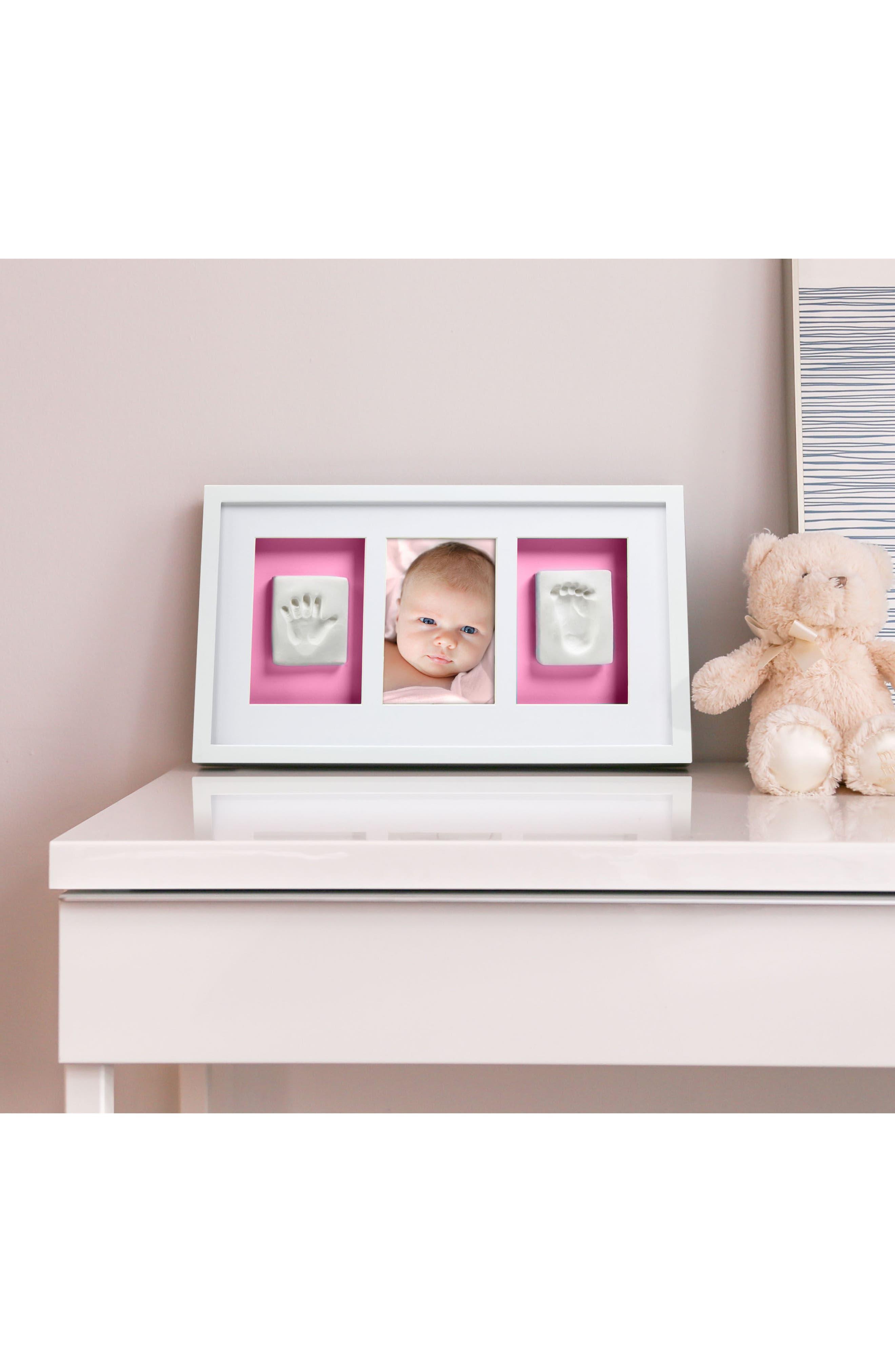 Babyprints Deluxe Wall Frame Kit,                             Alternate thumbnail 4, color,                             White