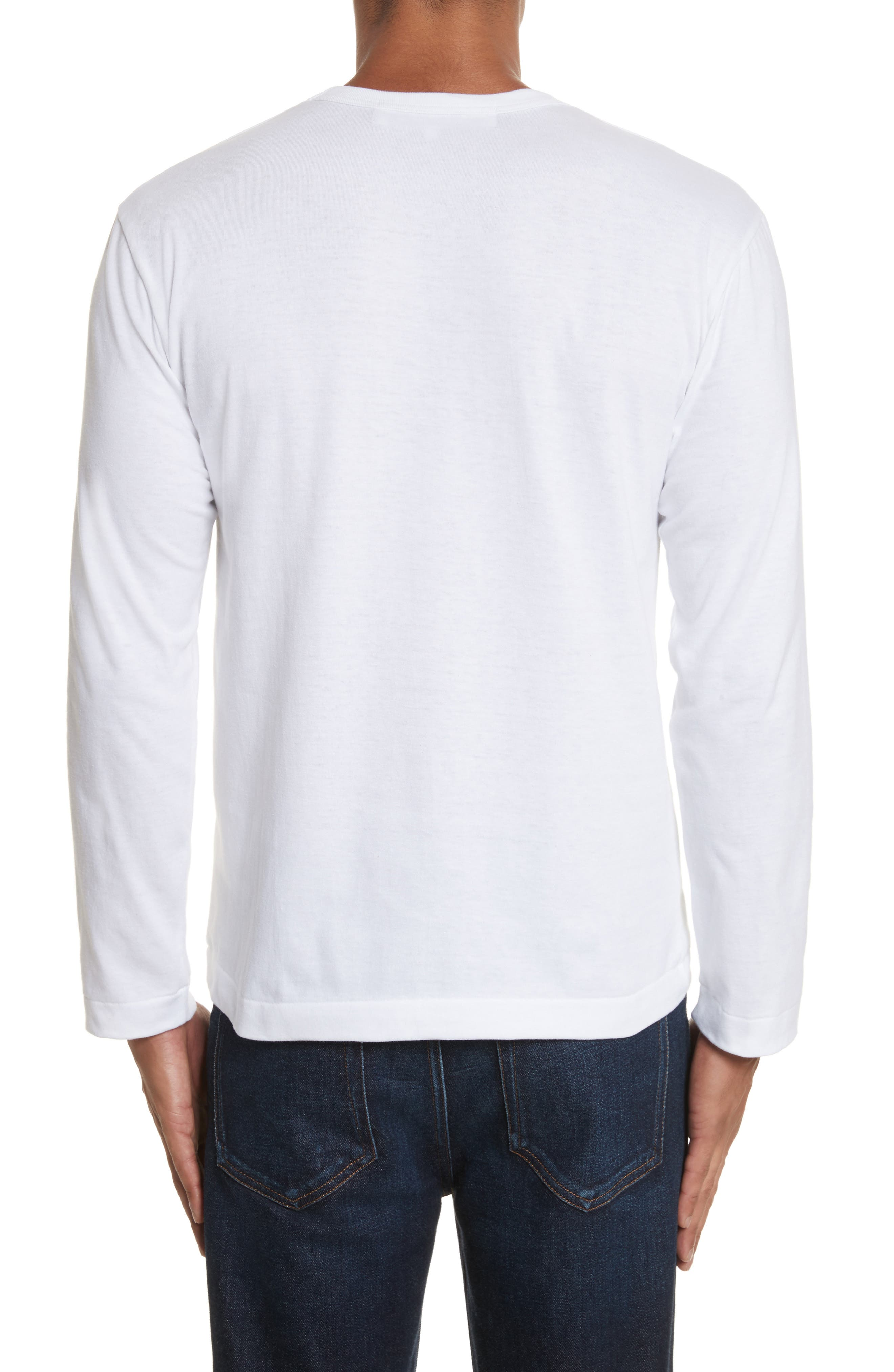 PLAY Long Sleeve T-Shirt,                             Alternate thumbnail 2, color,                             White